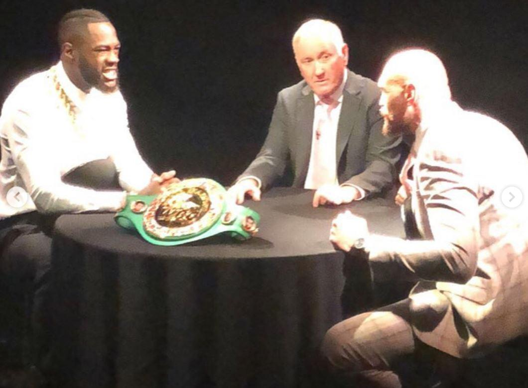 Tyson Fury and Deontay Wilder filmed a face off ahead of their expected December bout