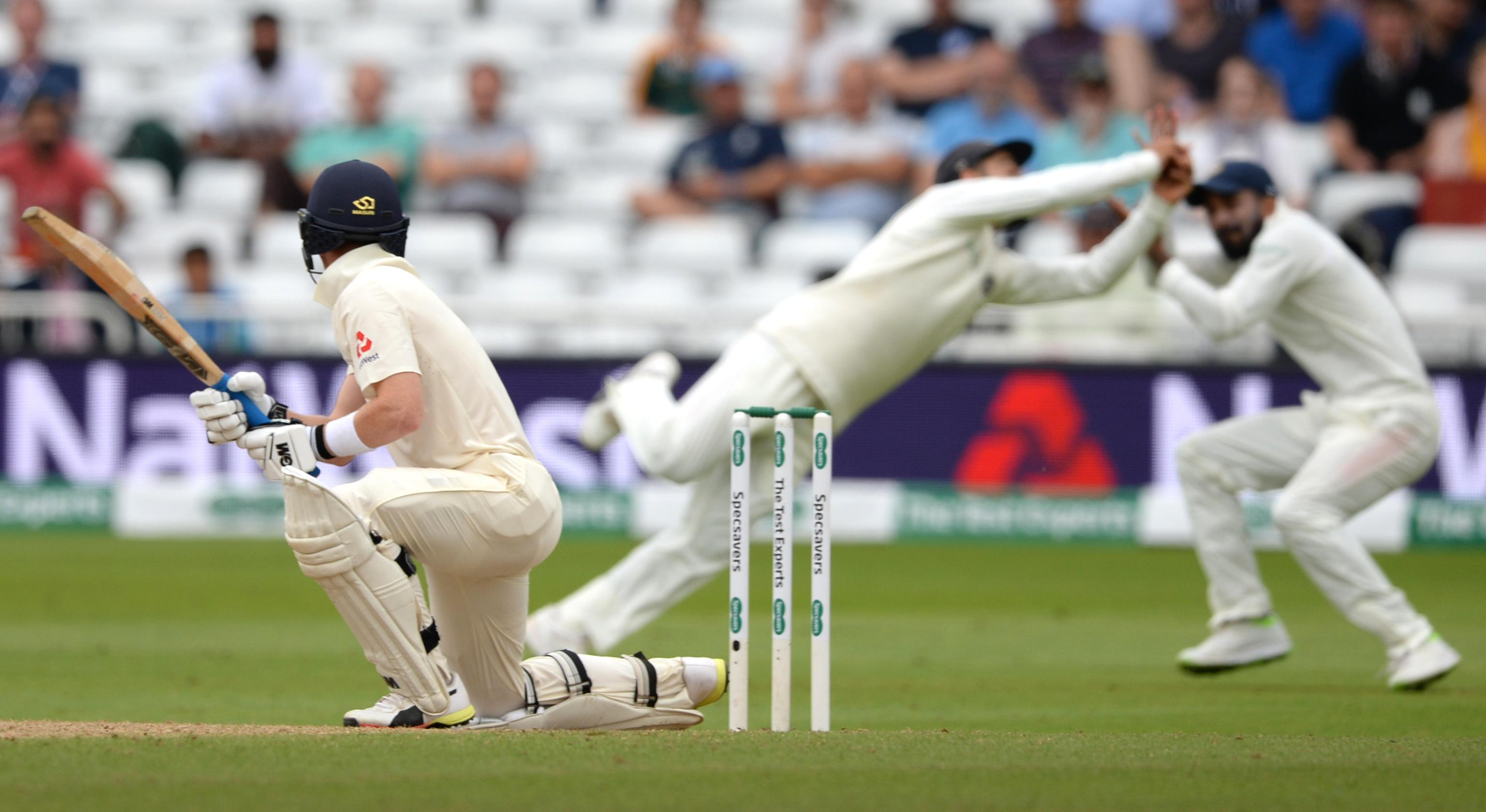 He took a brilliant catch to dismiss England batsman Ollie Pope in the second innings as India narrowed the series deficit to 2-1