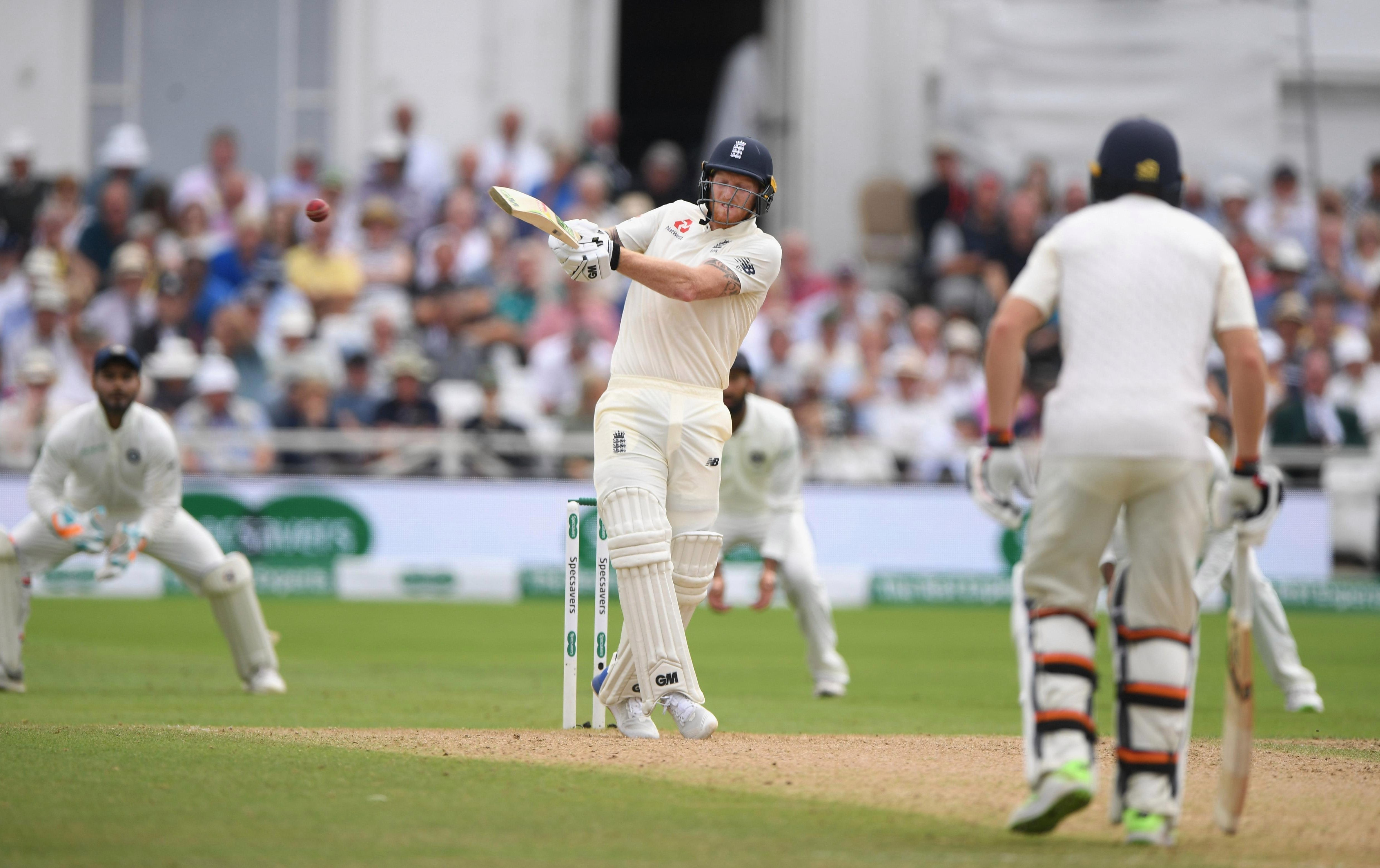 Ben Stokes reached double figures after being promoted to No5 as history was made