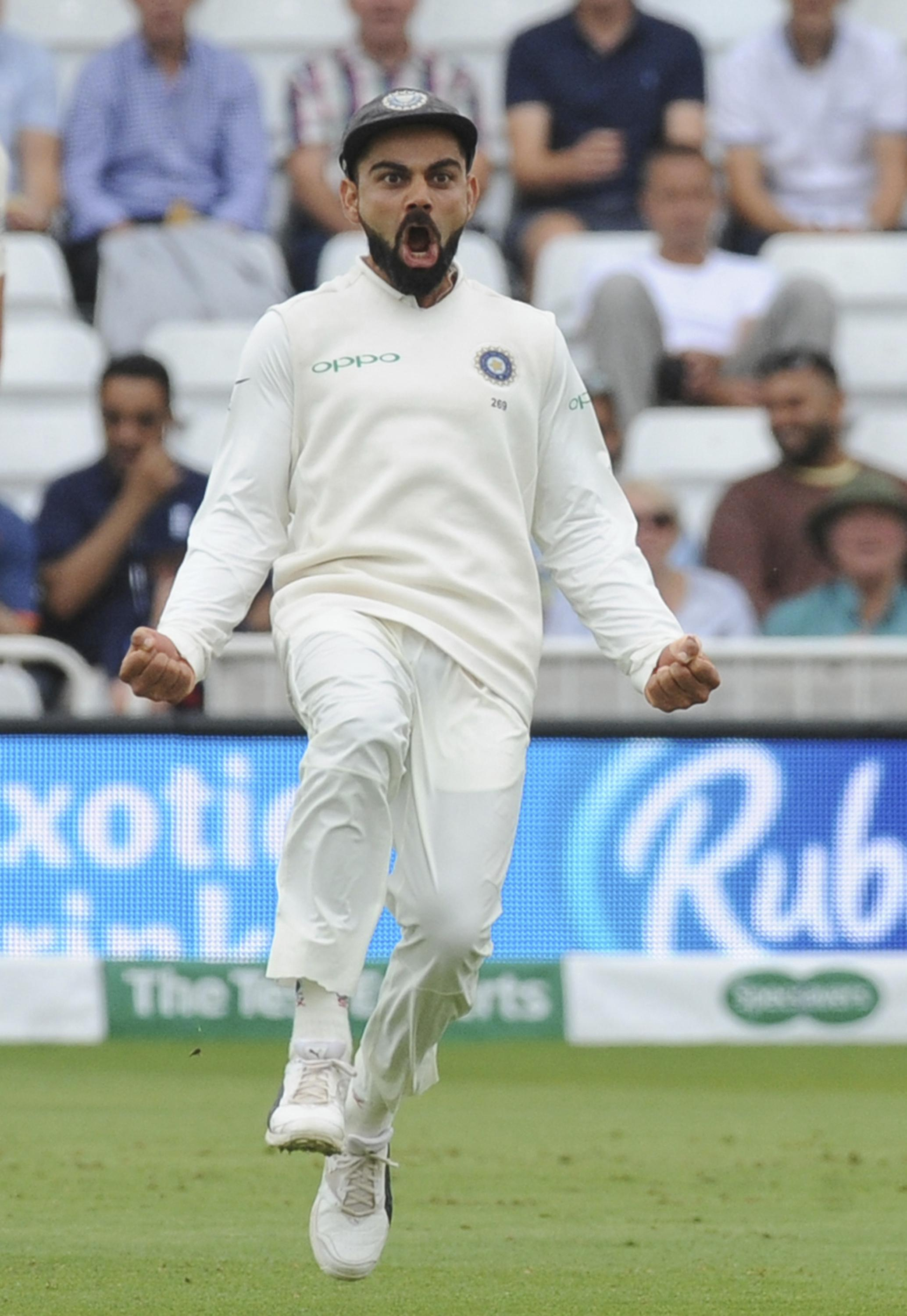 Virat Kohli moved back to the top of the ICC Test Rankings for batsmen with a total of 200 at Trent Bridge