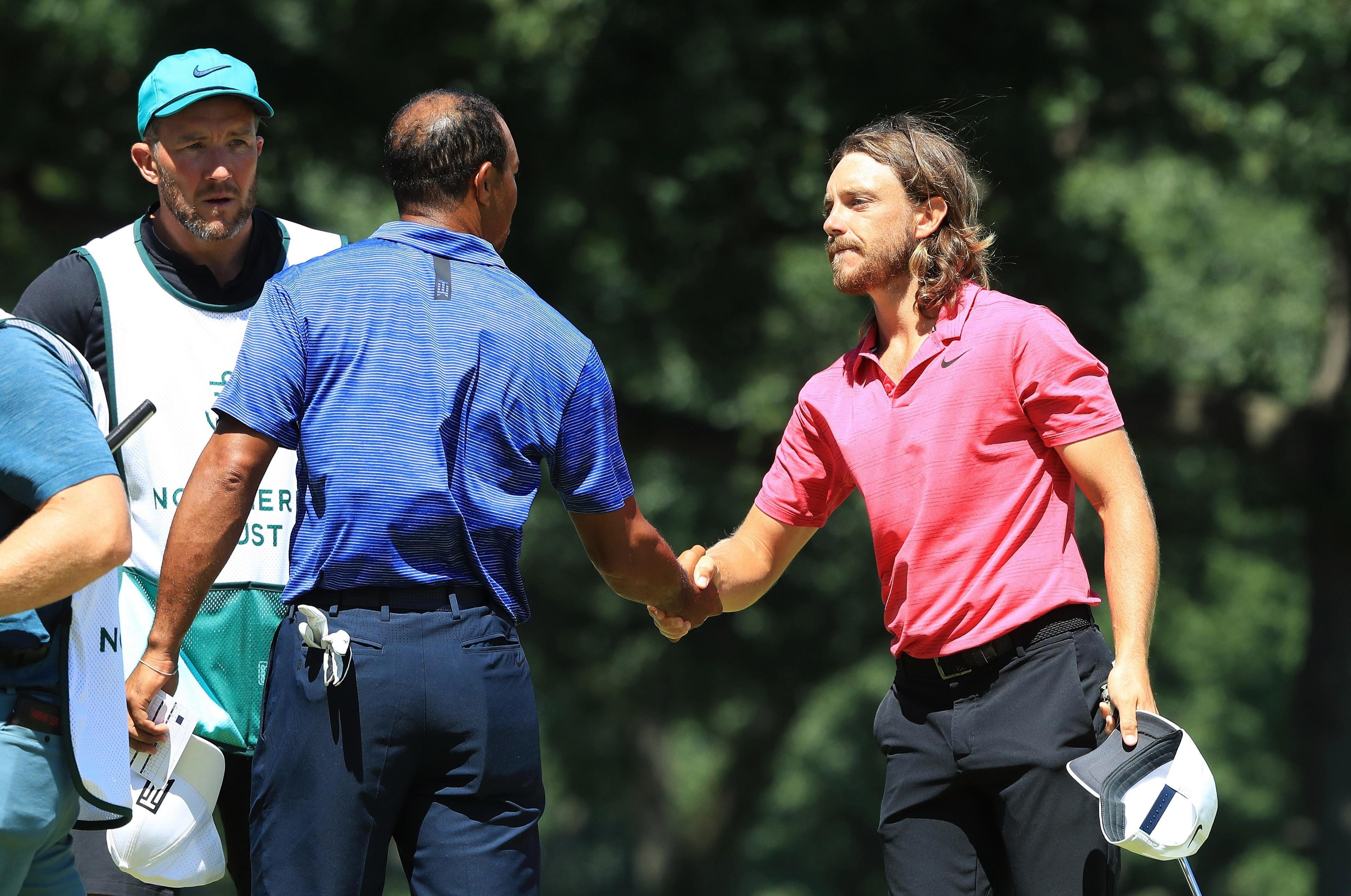 Woods played alongside Tommy Fleetwood at the opening day of the Northern Trust