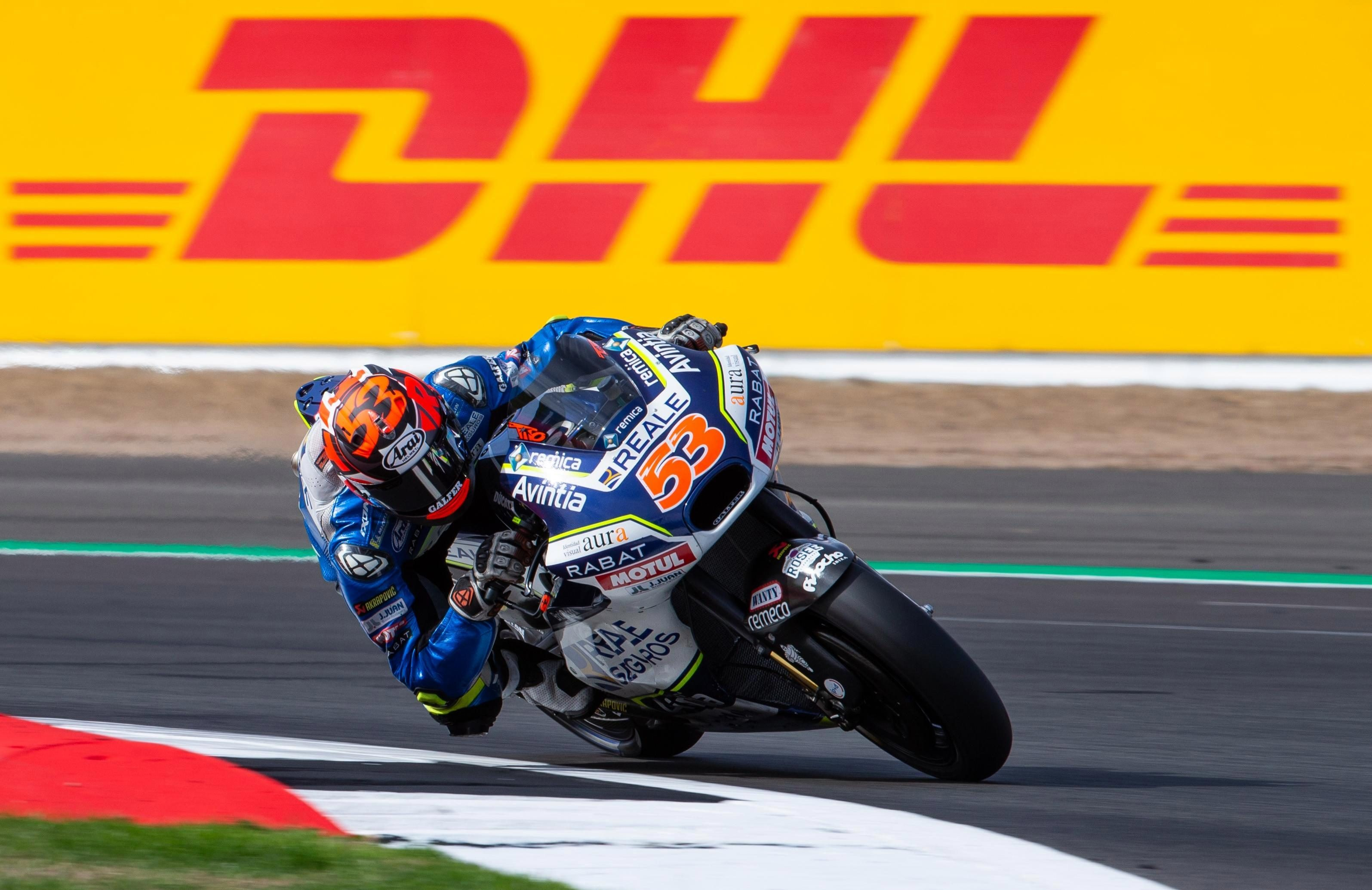 Rabat was hit by another bike and suffered a broken leg