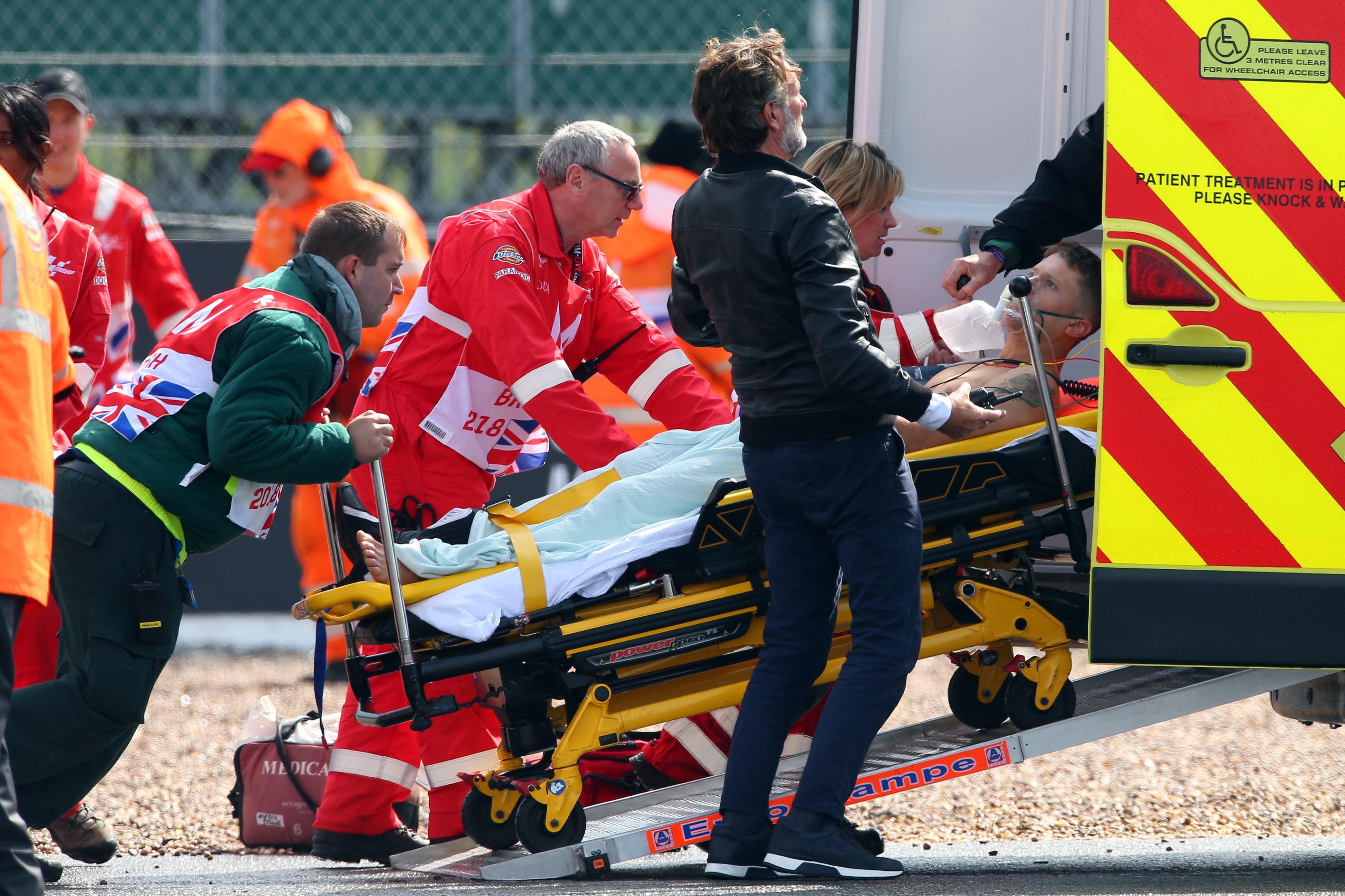 Rabat was taken to hospital in Coventry for attention to his injuries