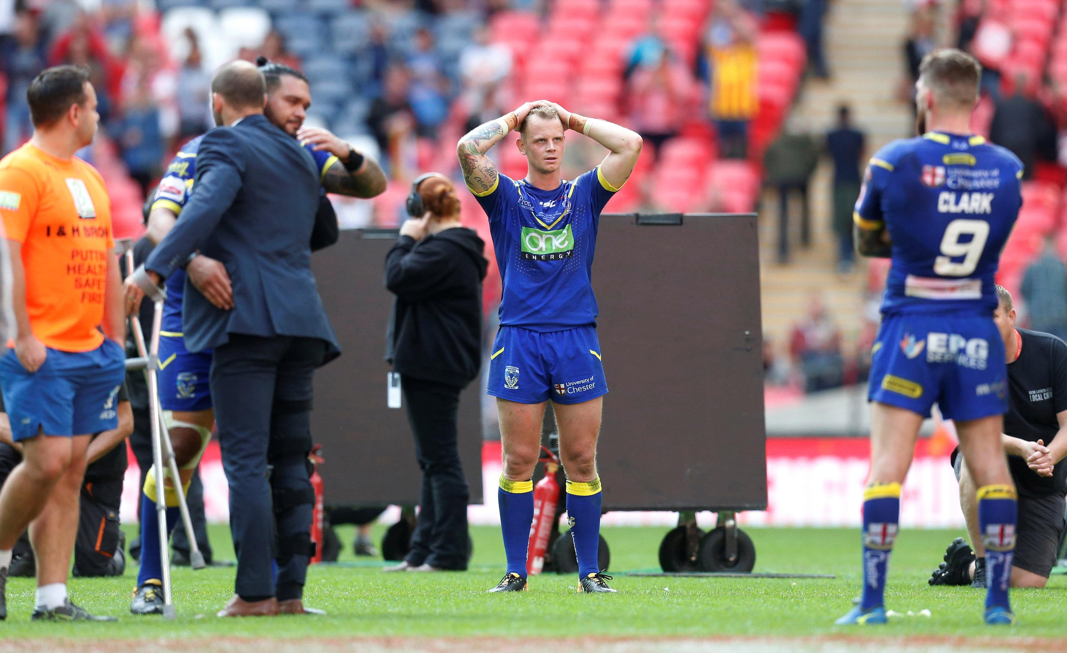 There were opposite emotions for the Warrington players
