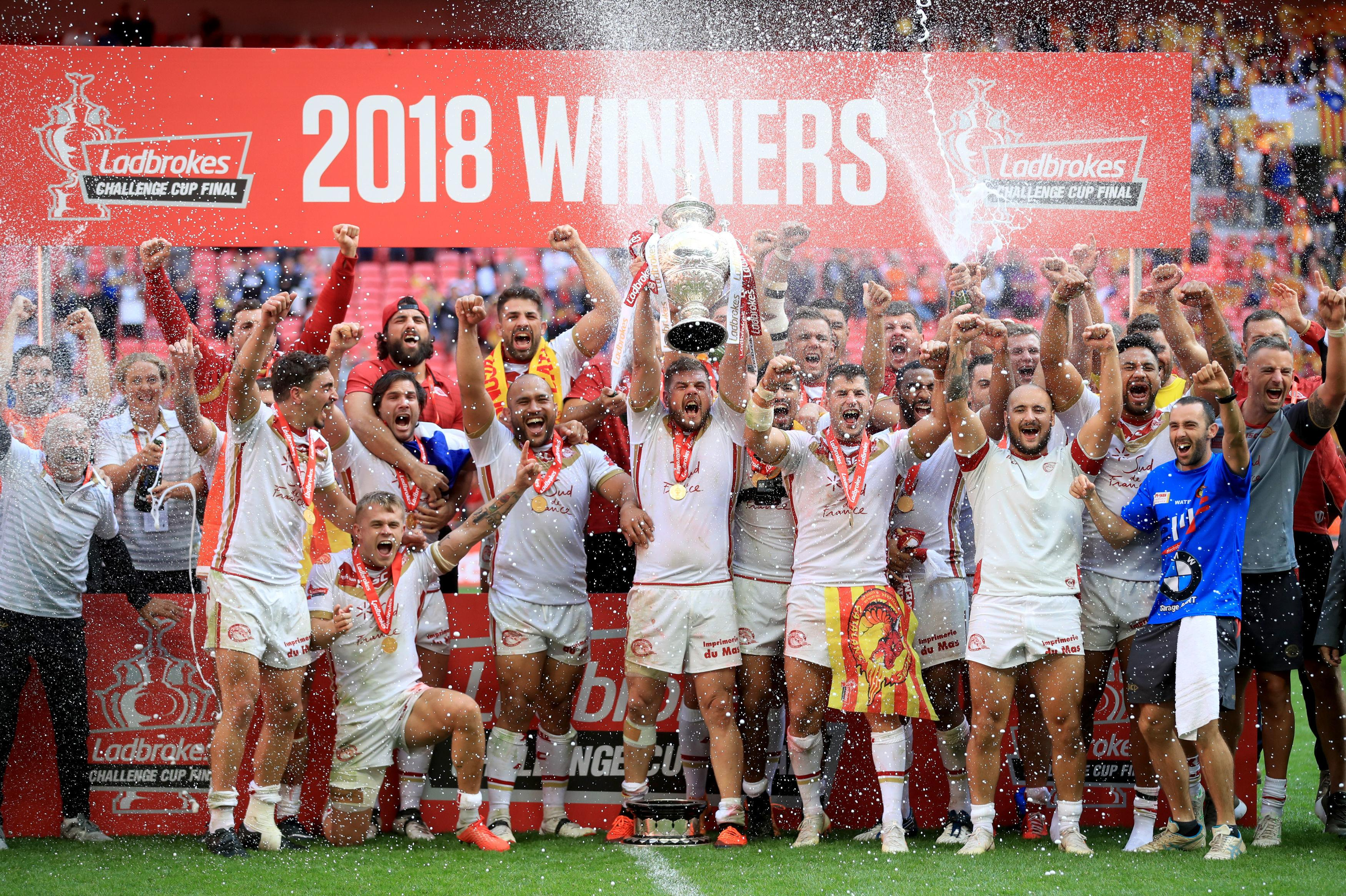 Catalans Dragons became the first team outside of England to win the Challenge Cup in its 122-year history
