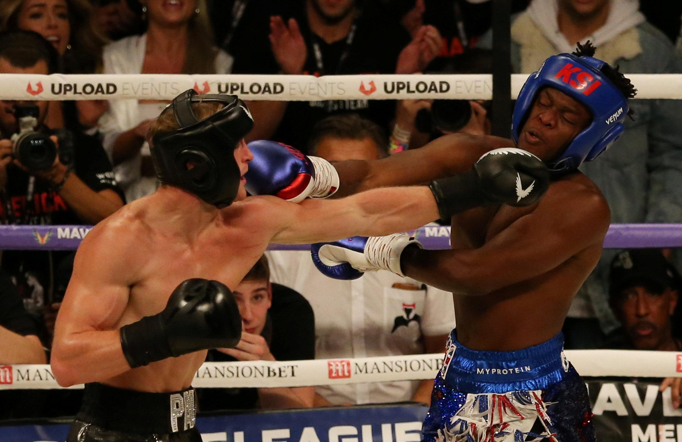 Paul Logan bashed up KSI but the draw means a rematch is planned