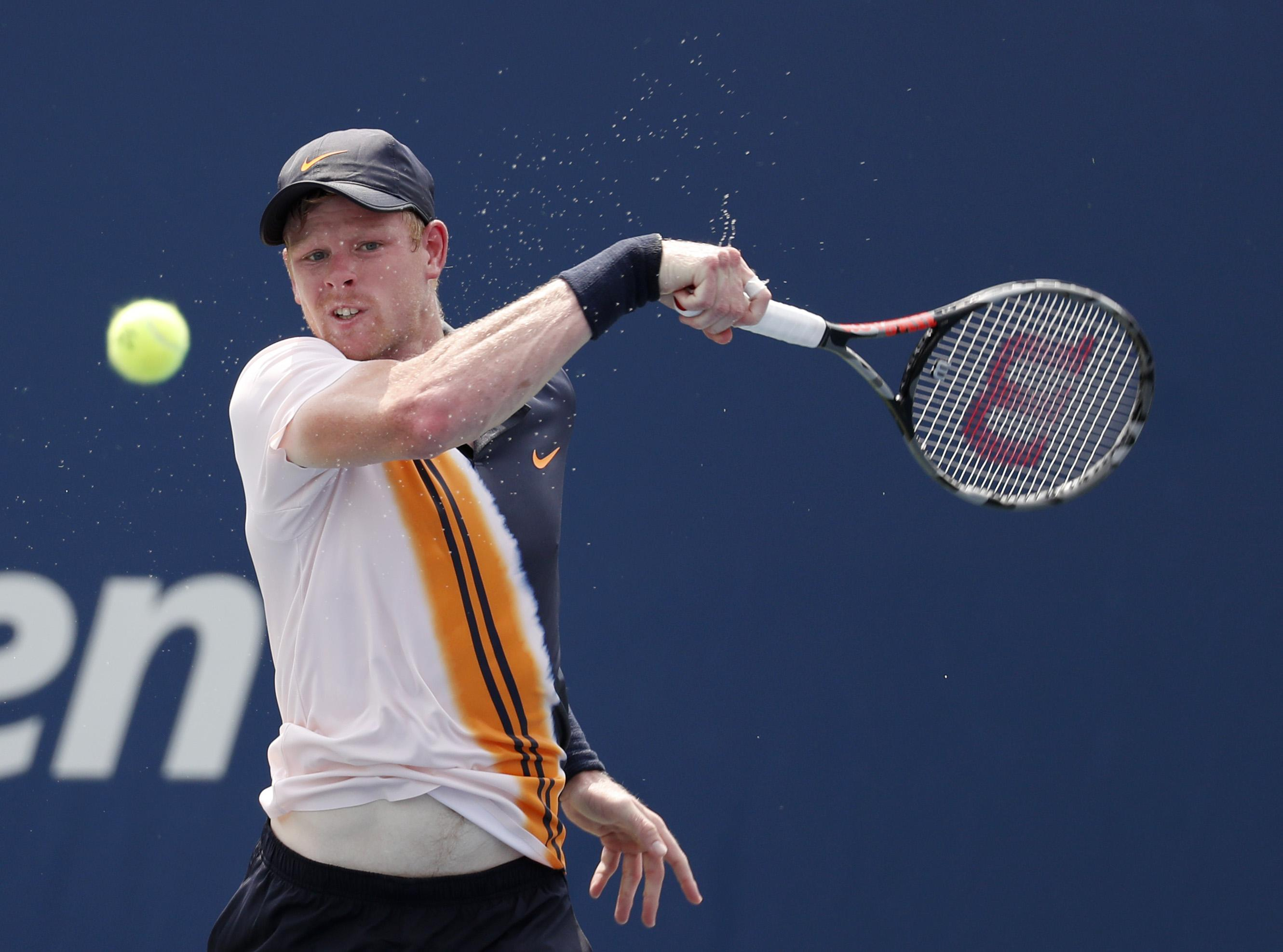 Kyle Edmund suffered cramp during the defeat at Flushing Meadows