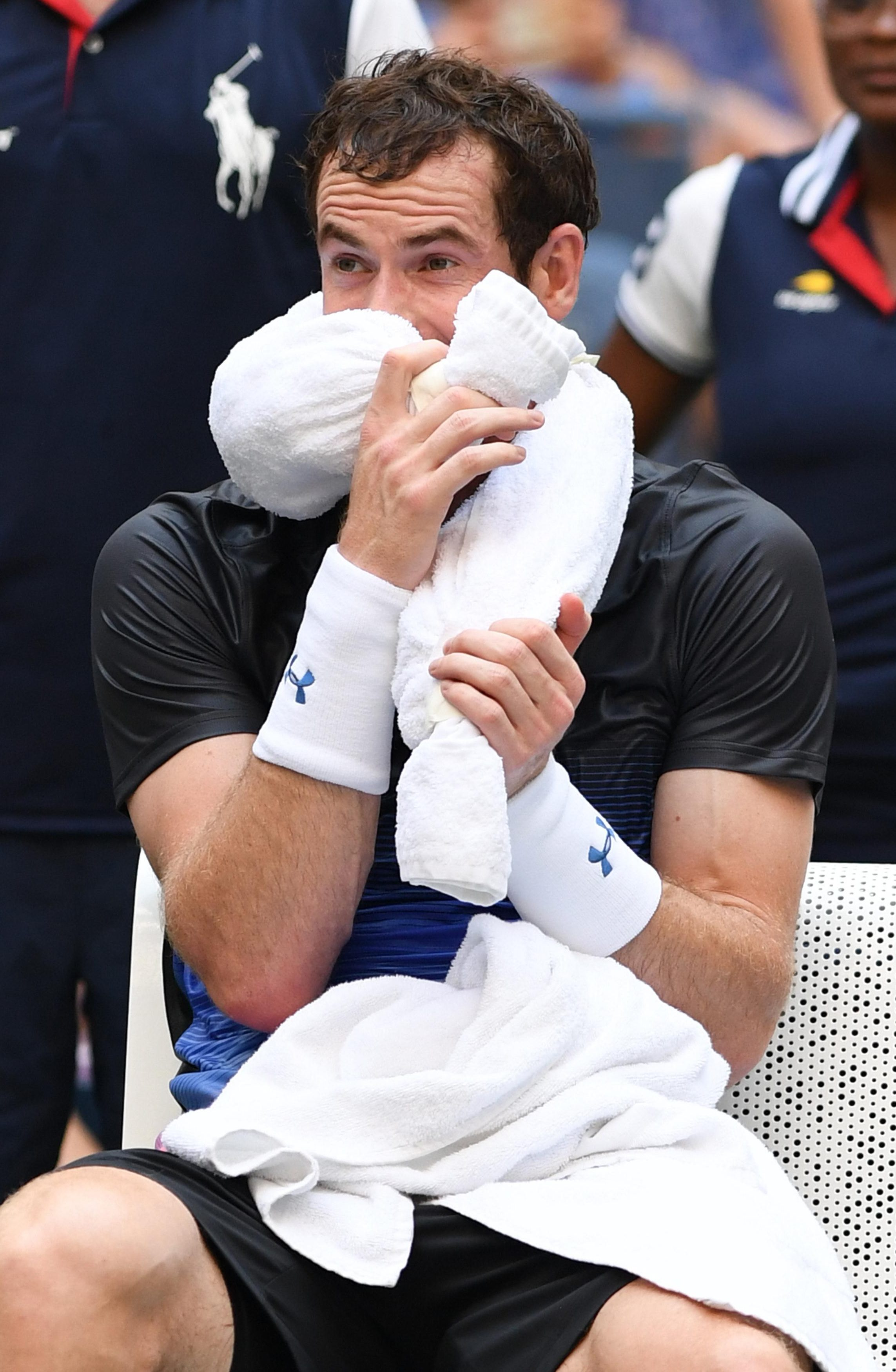 Andy Murray battled valiantly but came up short against the No 31 seed