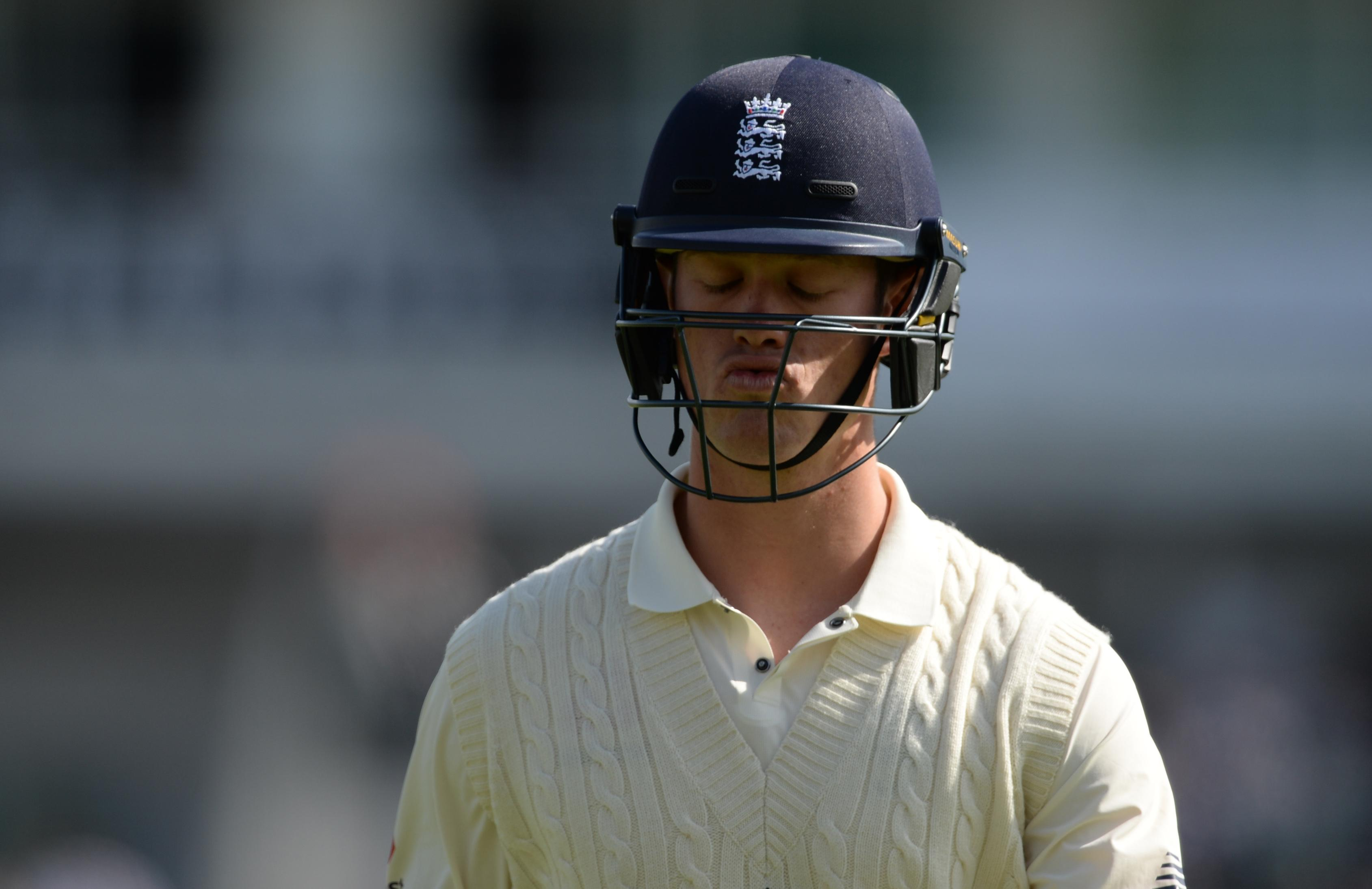 Keaton Jennings was out lbw for a duck as his place in the side continues to be endangered