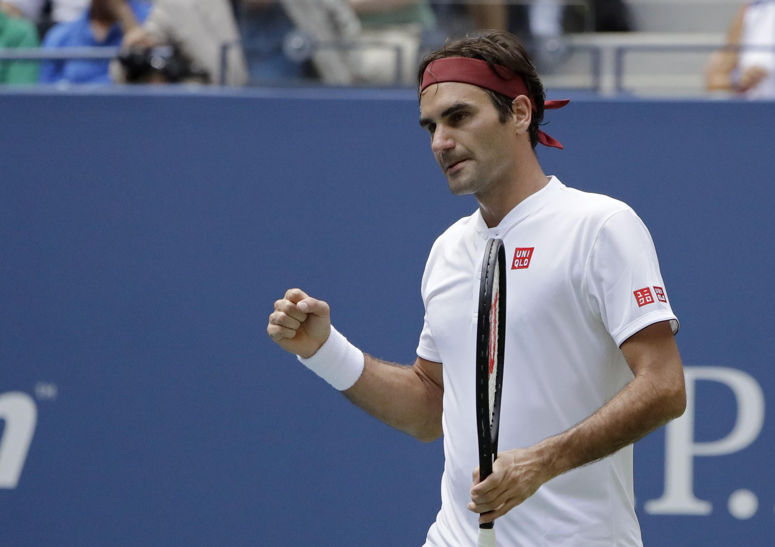 Roger Federer breezed past Benoit Paire to reach the third round at the US Open for the 18th time in his career