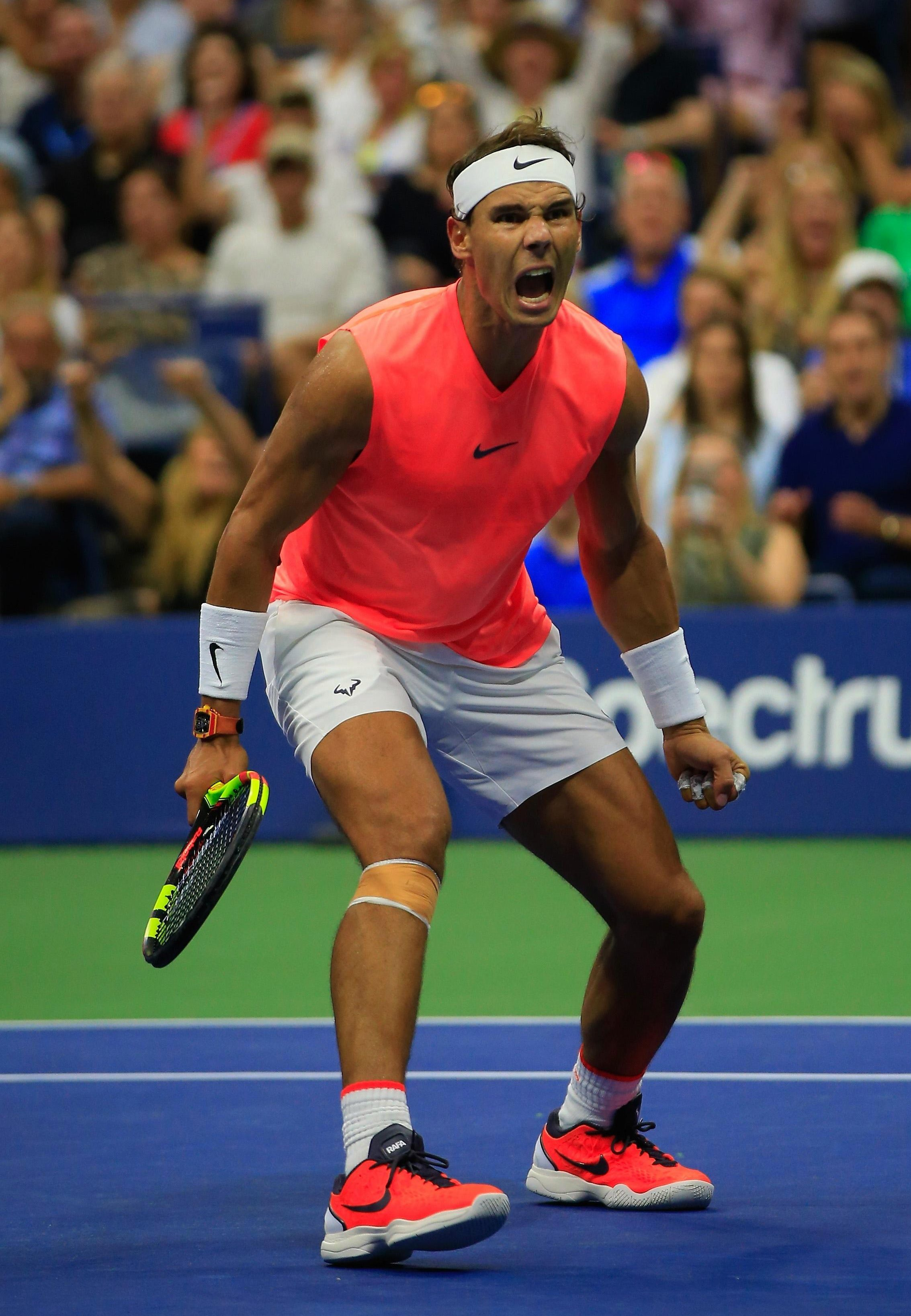 Rafael Nadal fought back to beat Karen Khachanov in four sets after a major shock was on the cards