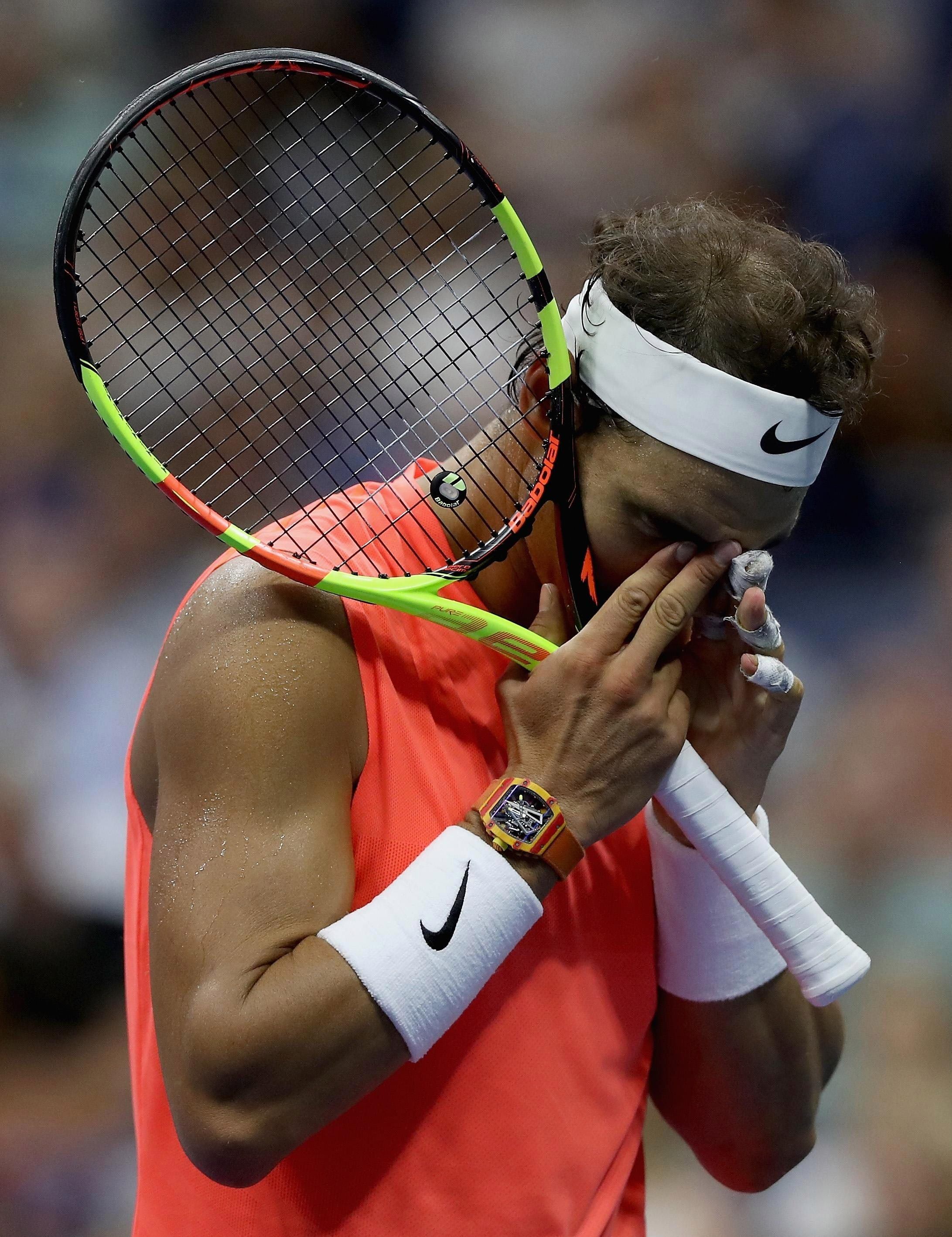 Nadal was a set and a break down to the 22-year-old Russian star before coming back to get the win
