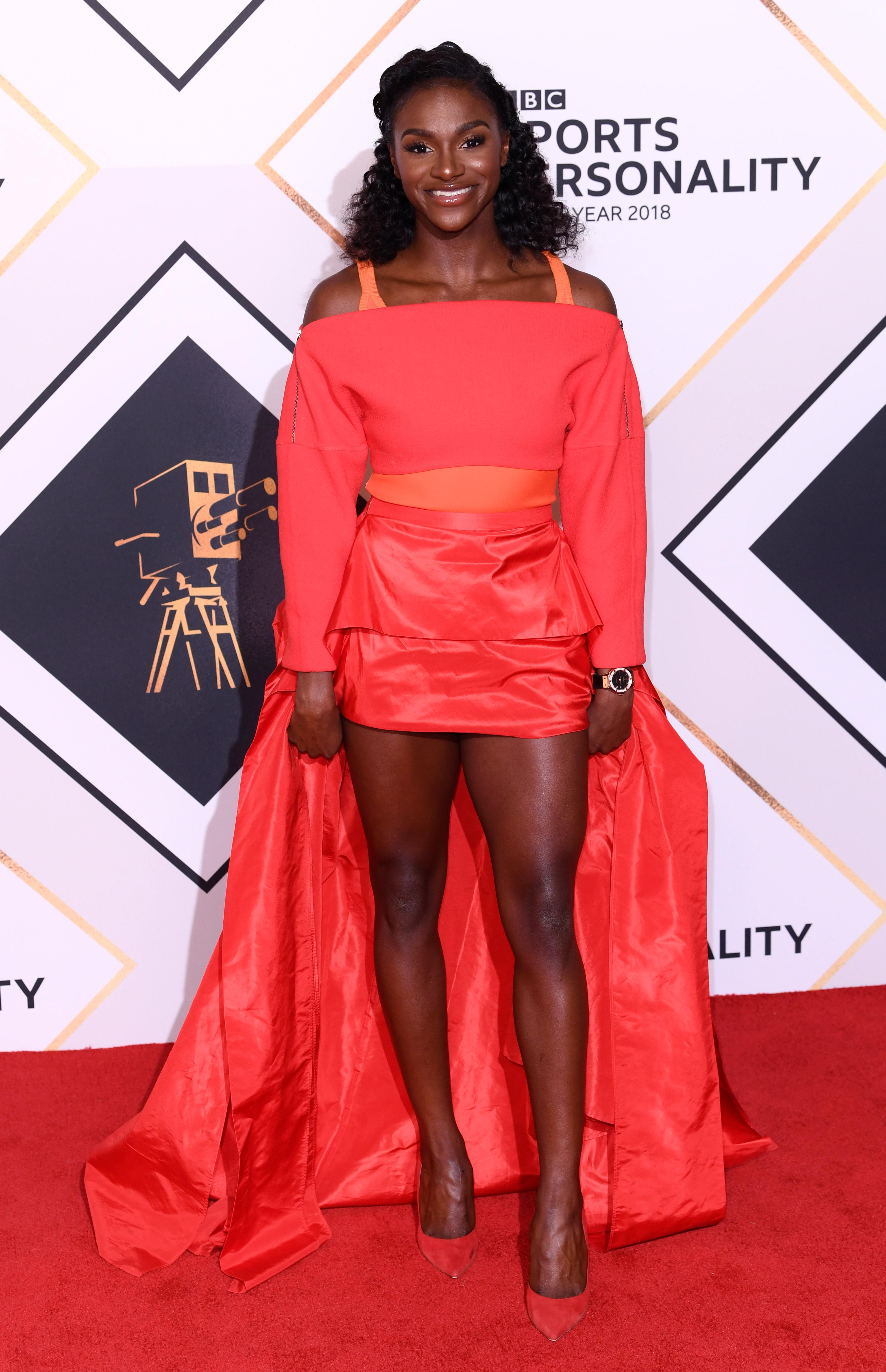 Dina Asher-Smith is on the red carpet and could be in the running for the Sports Personality of the Year award