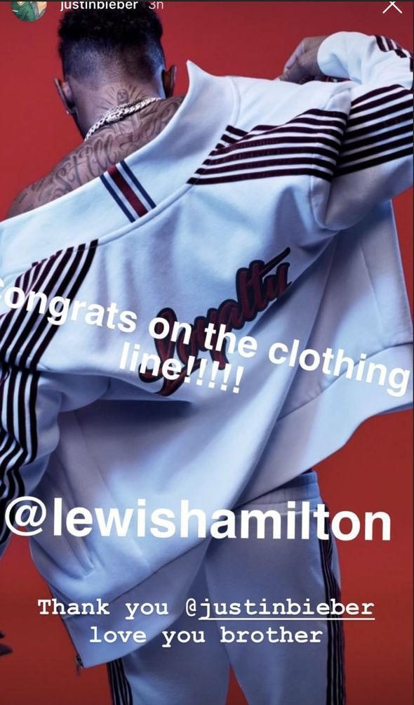Lewis Hamilton has been parading his new fashion line on his Instagram account