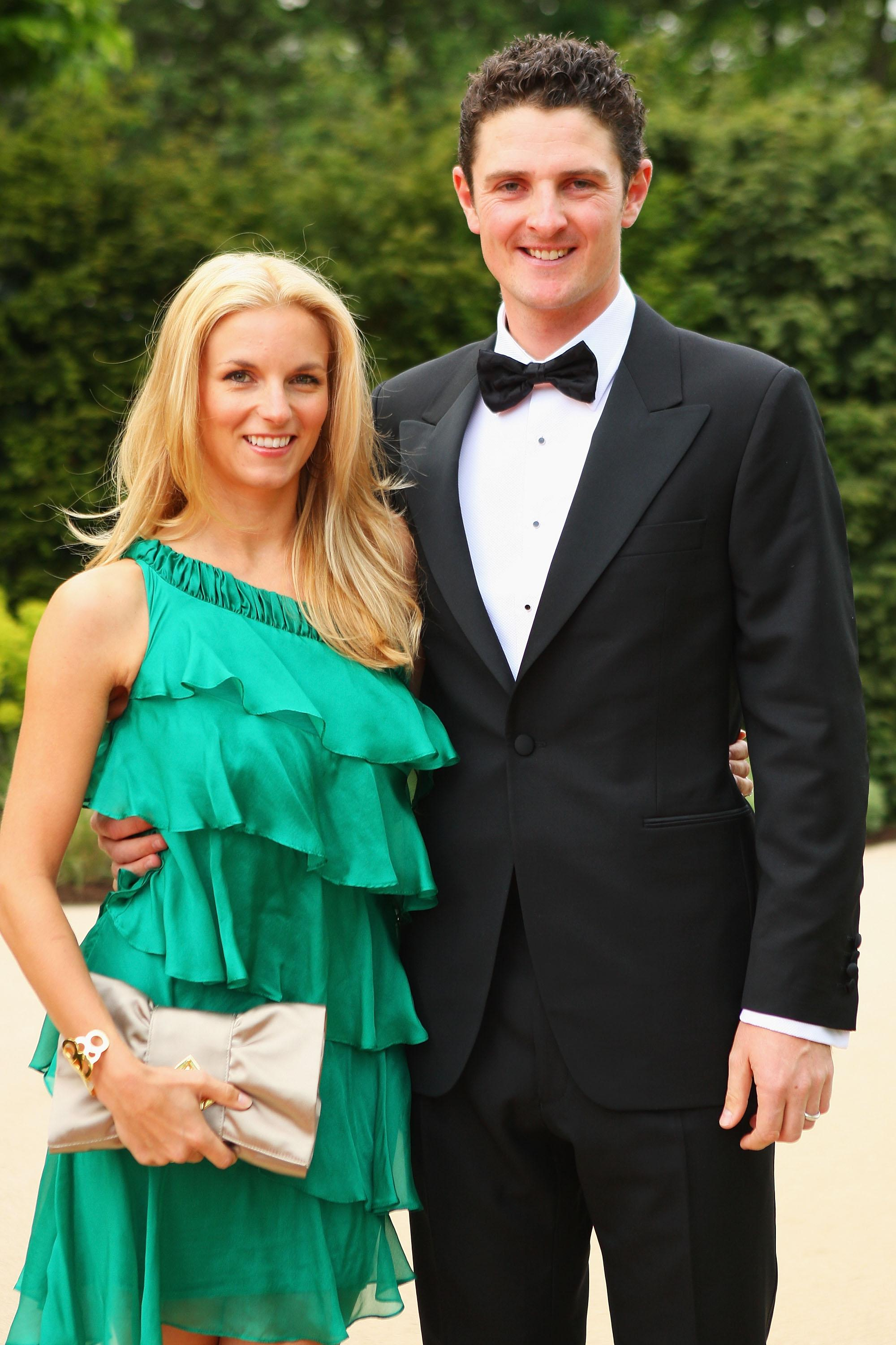 Justin Rose and wife Kate 10 years ago