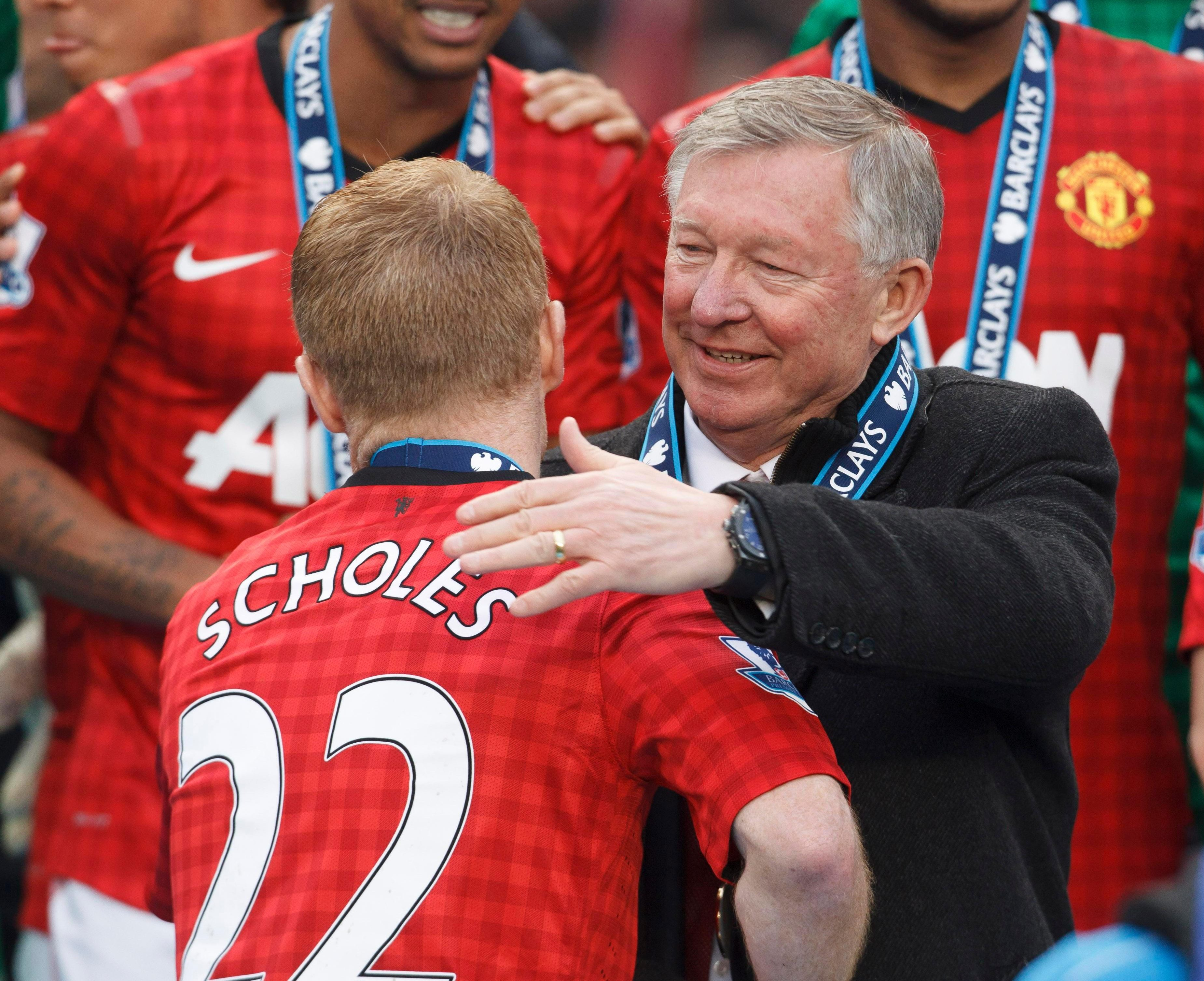 Sir Alex Ferguson has recorded a special video tribute to Paul Scholes