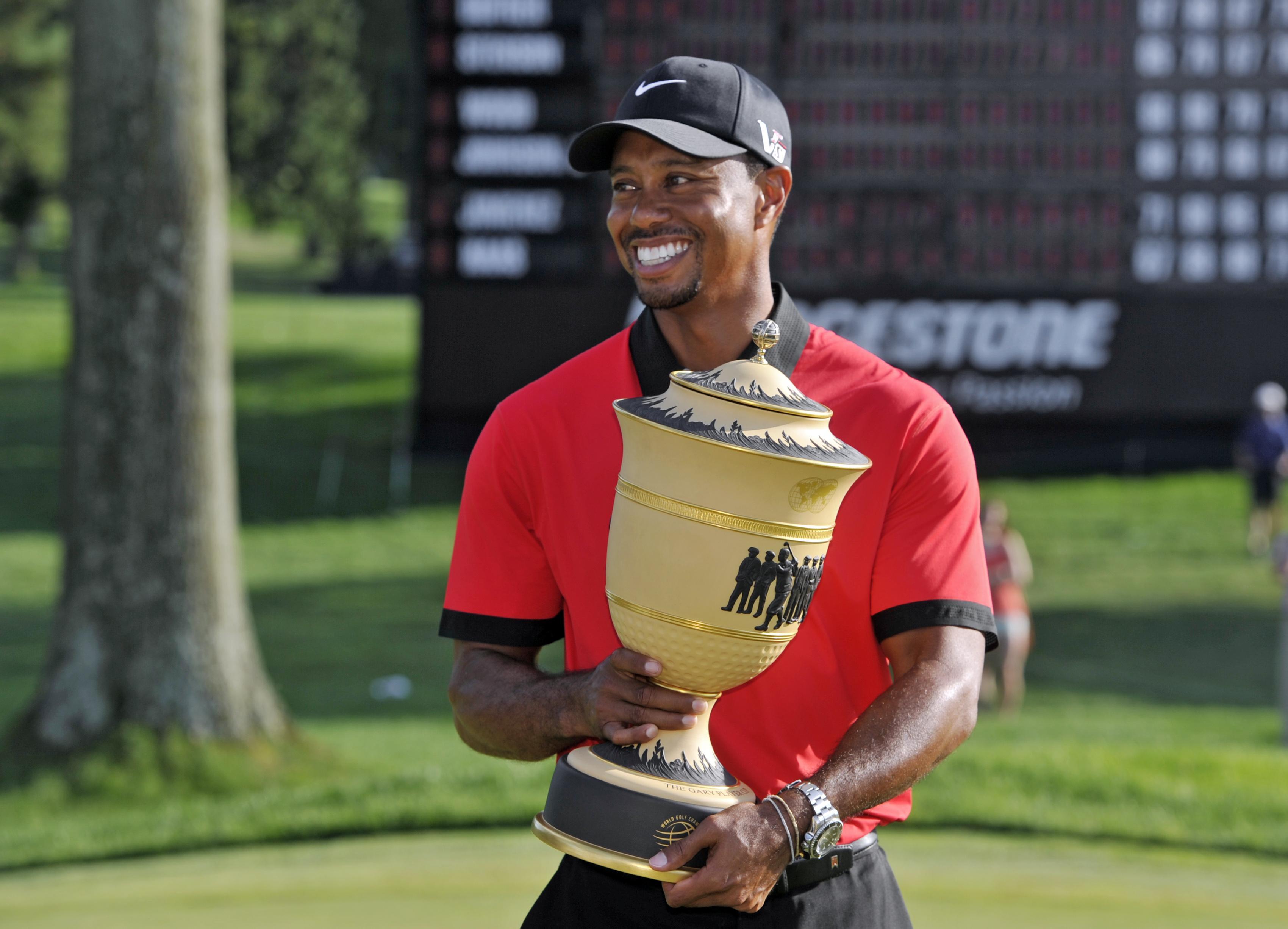 Woods won his last tournament at the Bridgestone Invitational in August 2013