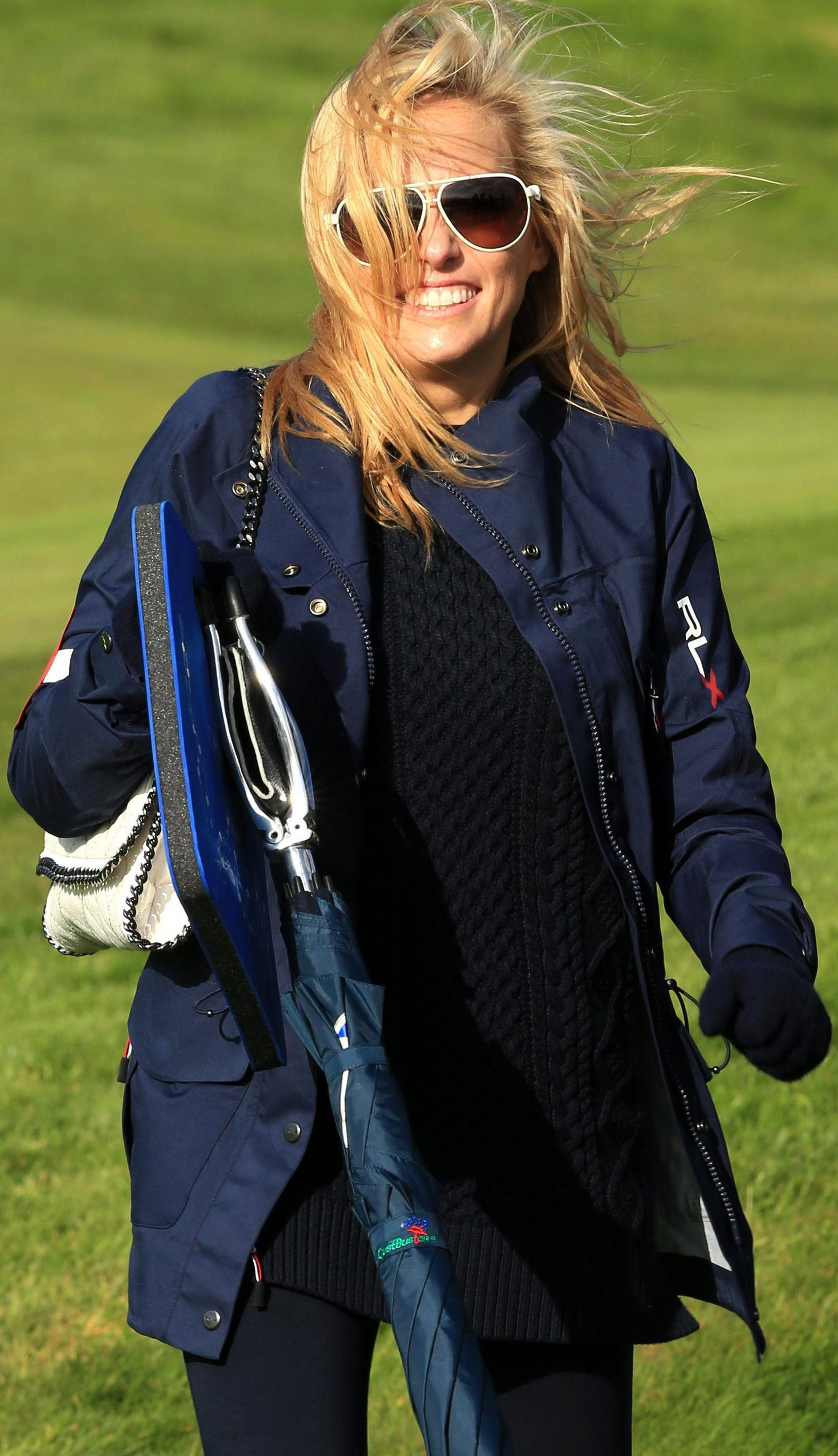 Amy is a constant companion of Phil on the course - but has suffered severe medical trauma off it
