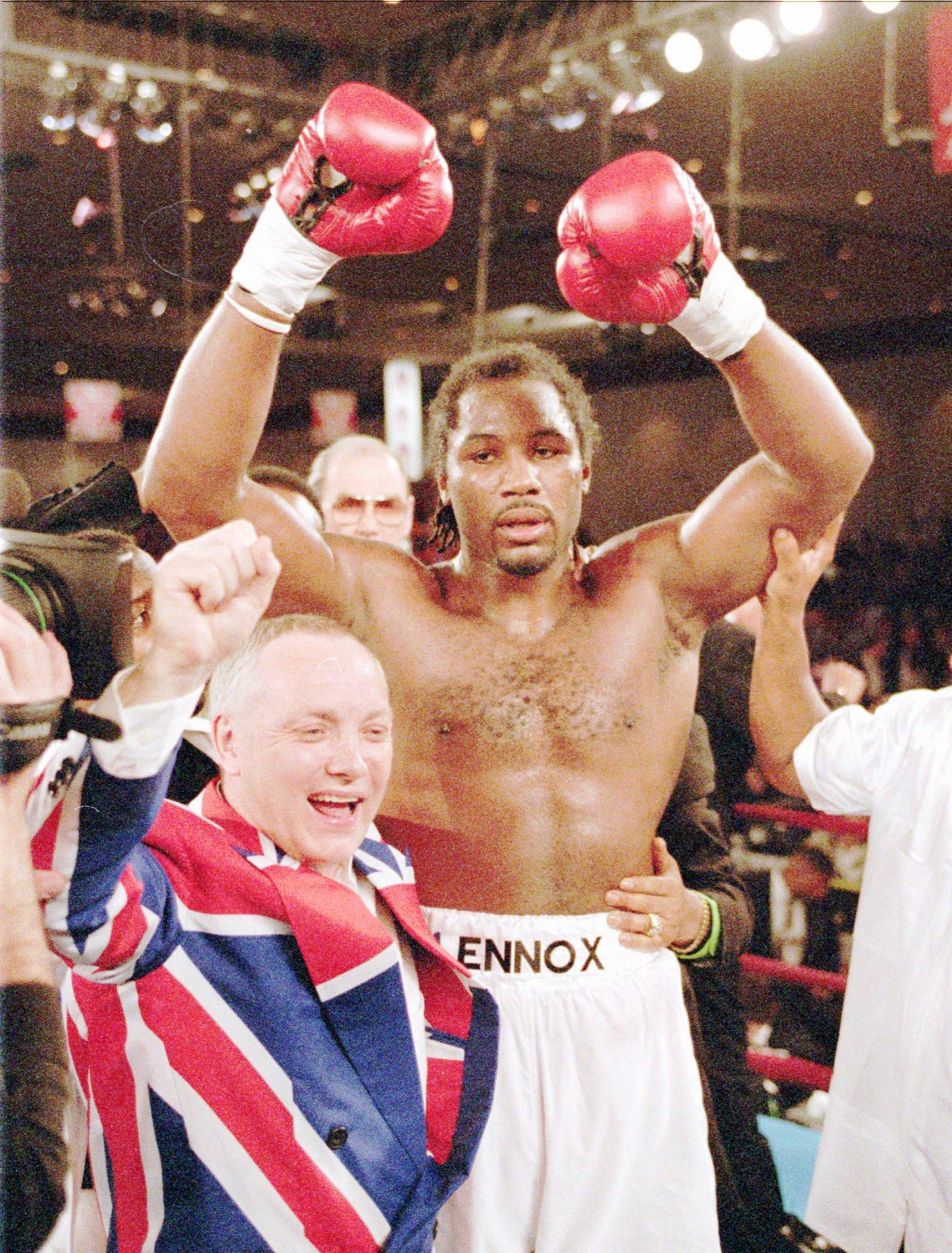 AJ has hopes of idolising British boxing legend Lennox Lewis by becoming the undisputed heavyweight champion
