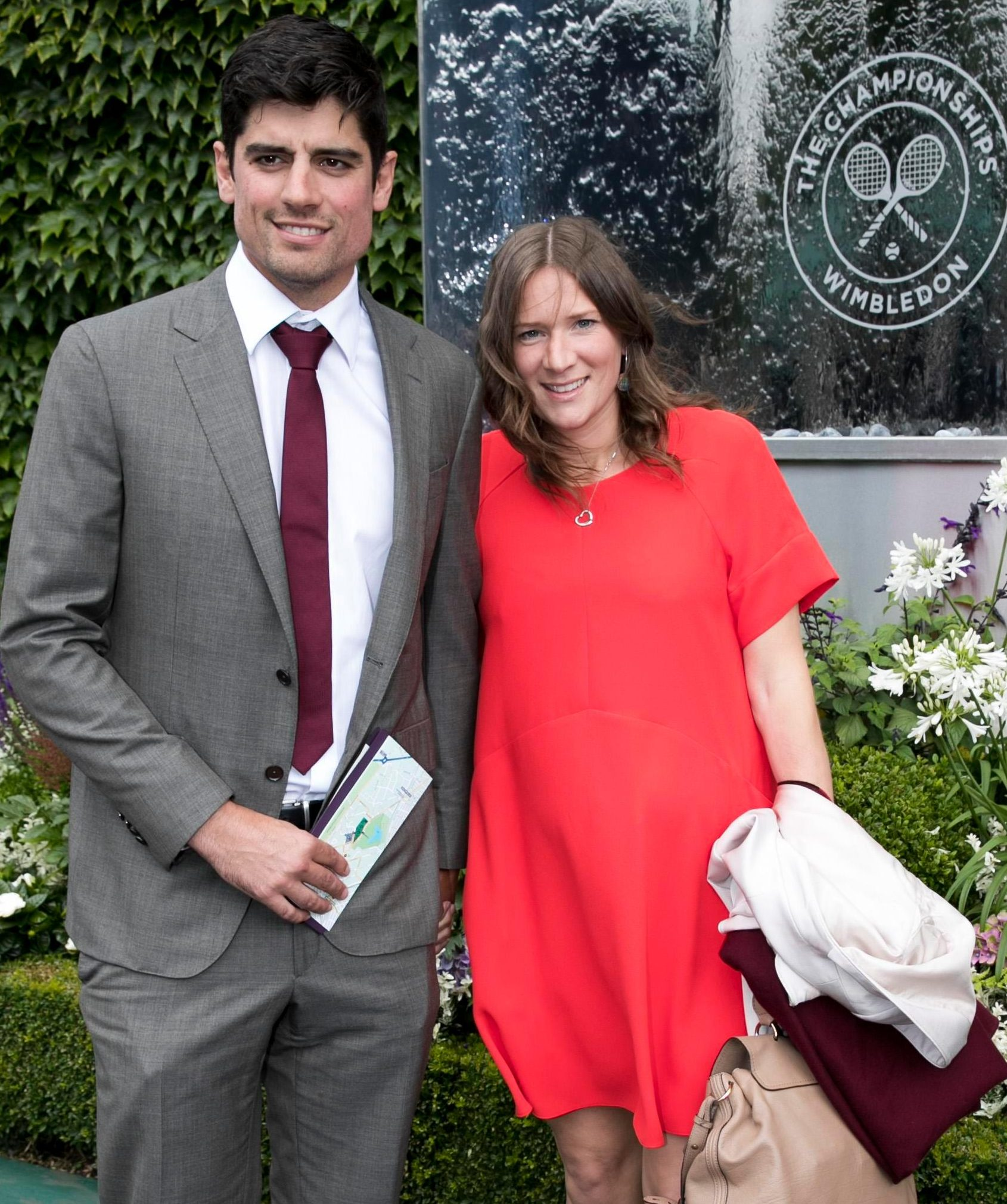 Alastair and Alice arrive for a day's tennis at Wimbledon in 2016