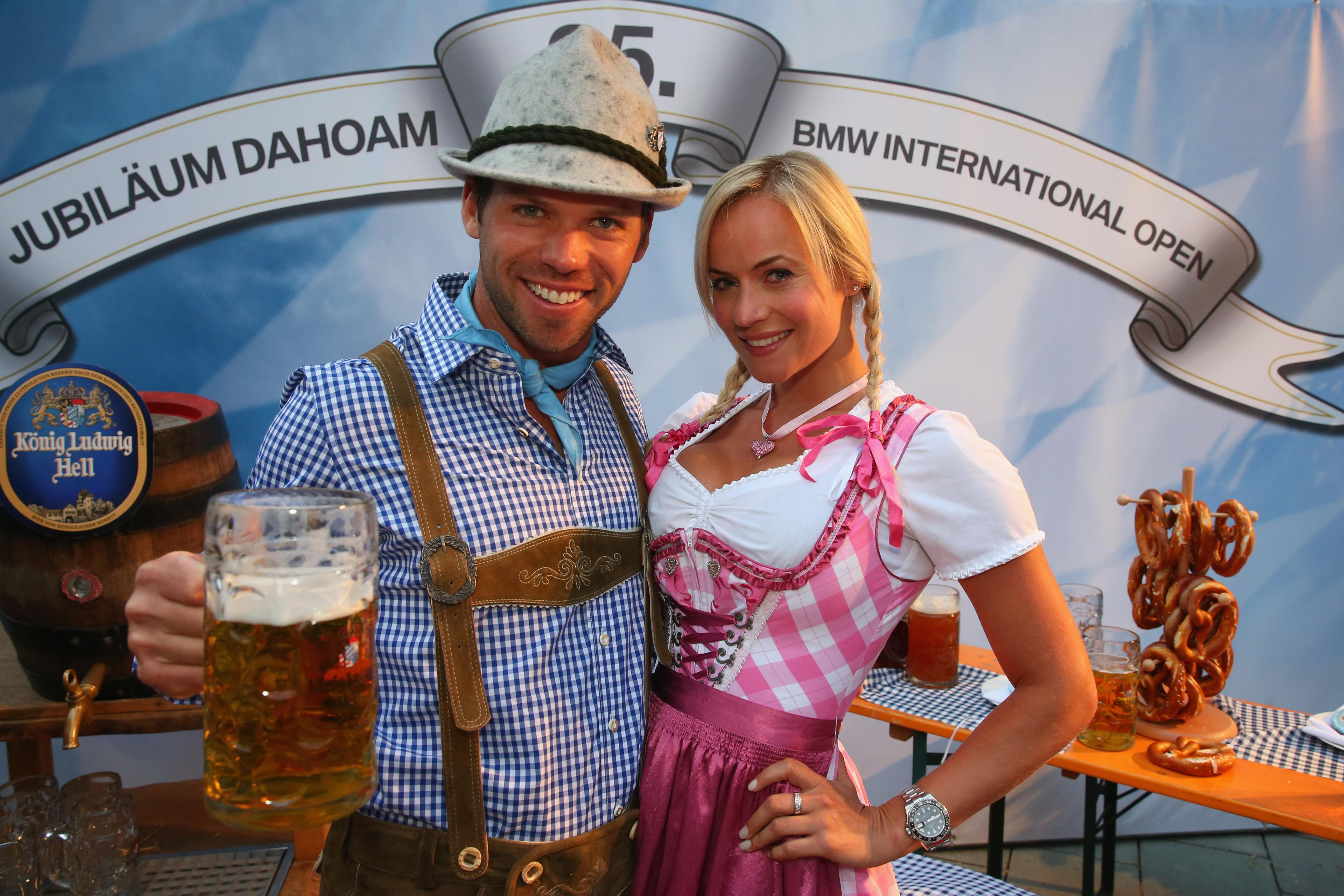 Paul Casey with Pollyanna Woodward at an event in Germany