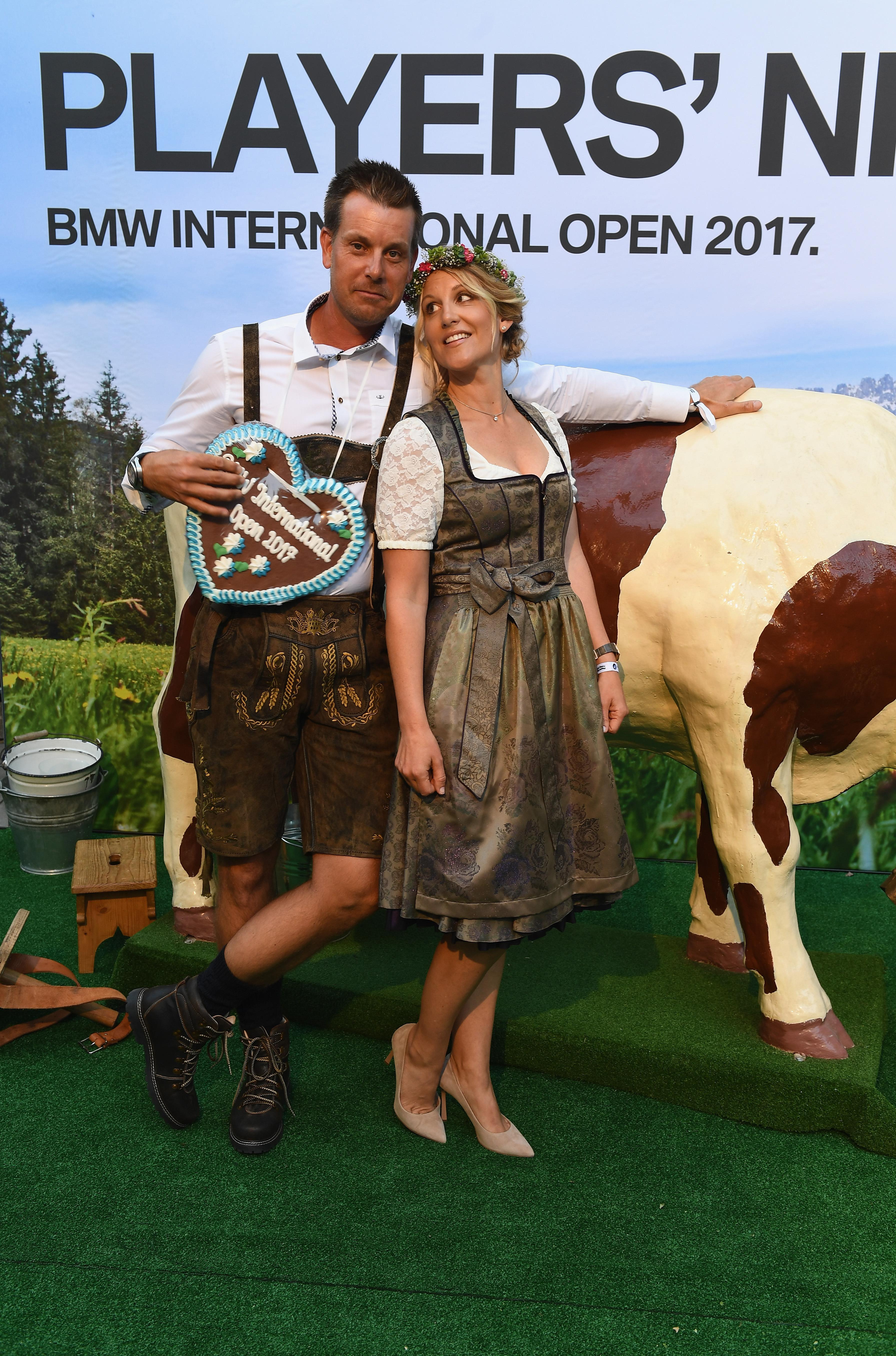 The couple together at the BMW Open Players Night in June