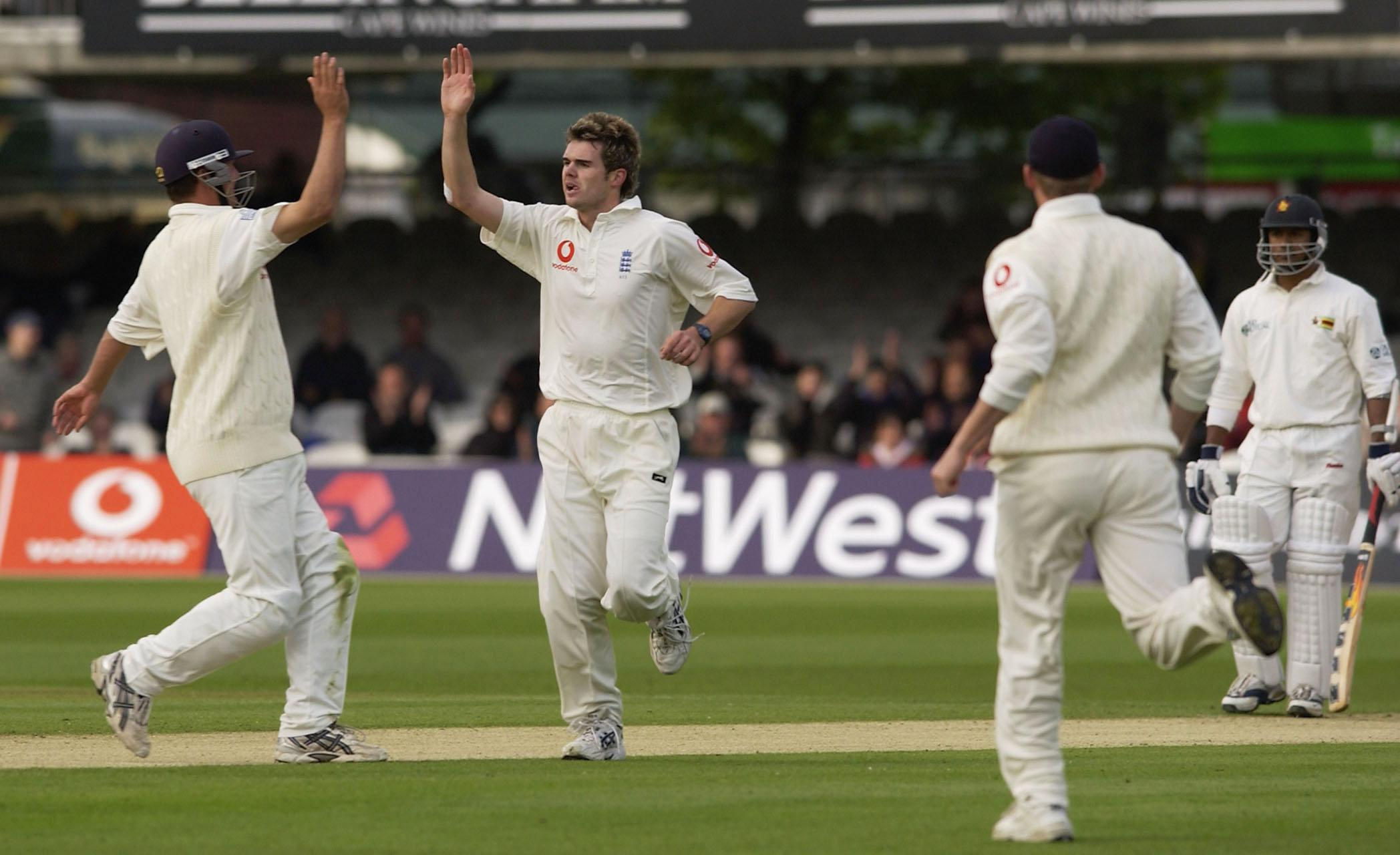 He took his first Test wickets with a five-fer in England's victory over Zimbabwe at Lord's in 2003