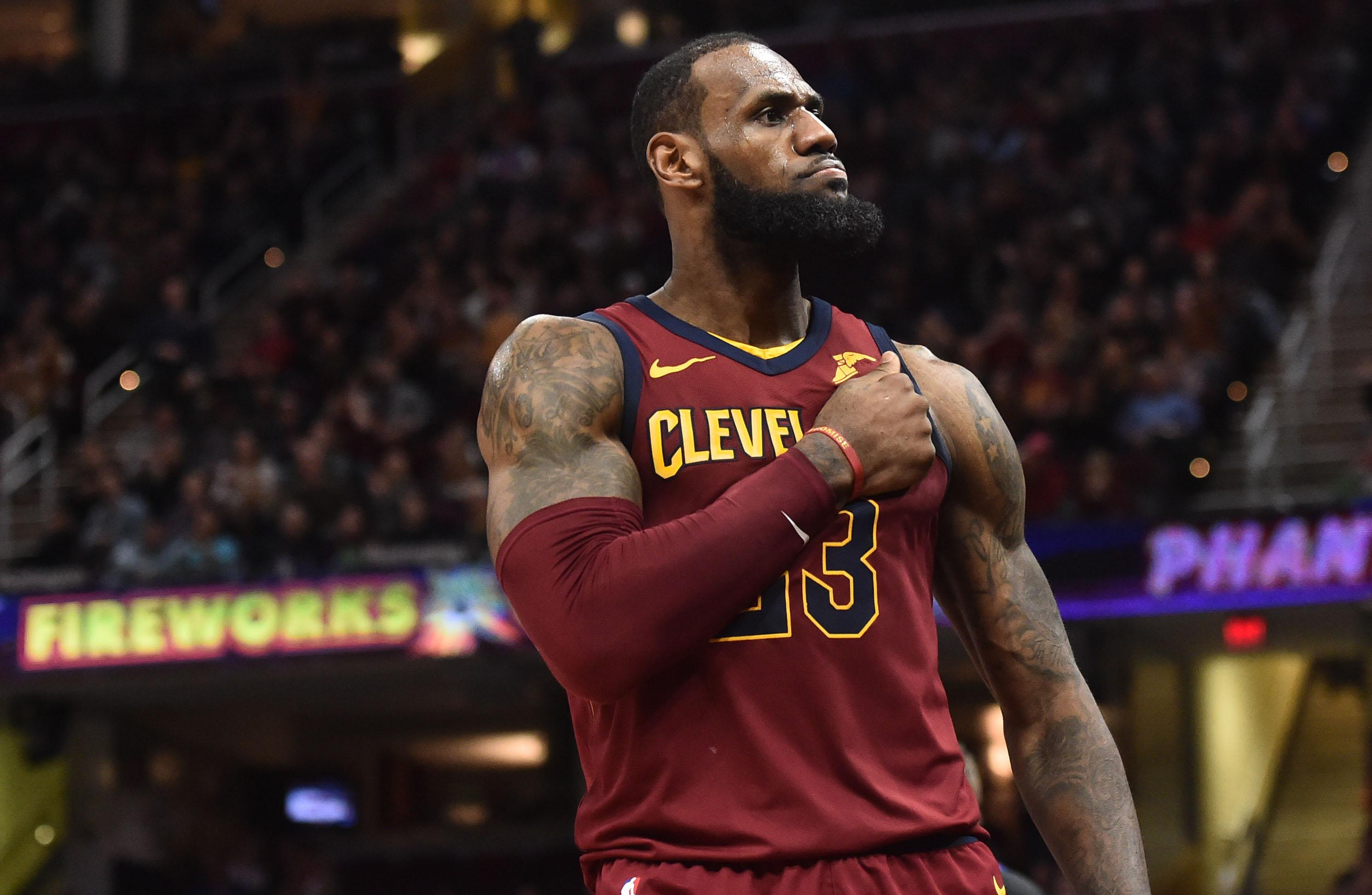 NBA star LeBron James is also part of Nike's advertising campaign this year