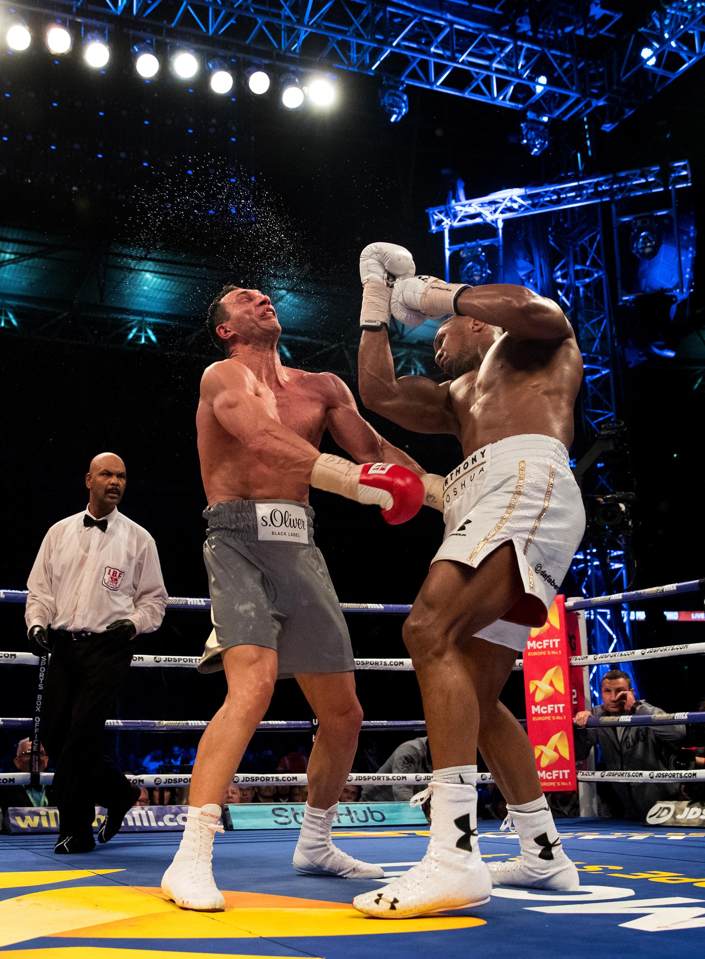 Anthony Joshua survived some scary moments against Wladimir Klitschko before brutally stopping the veteran in the 11th round