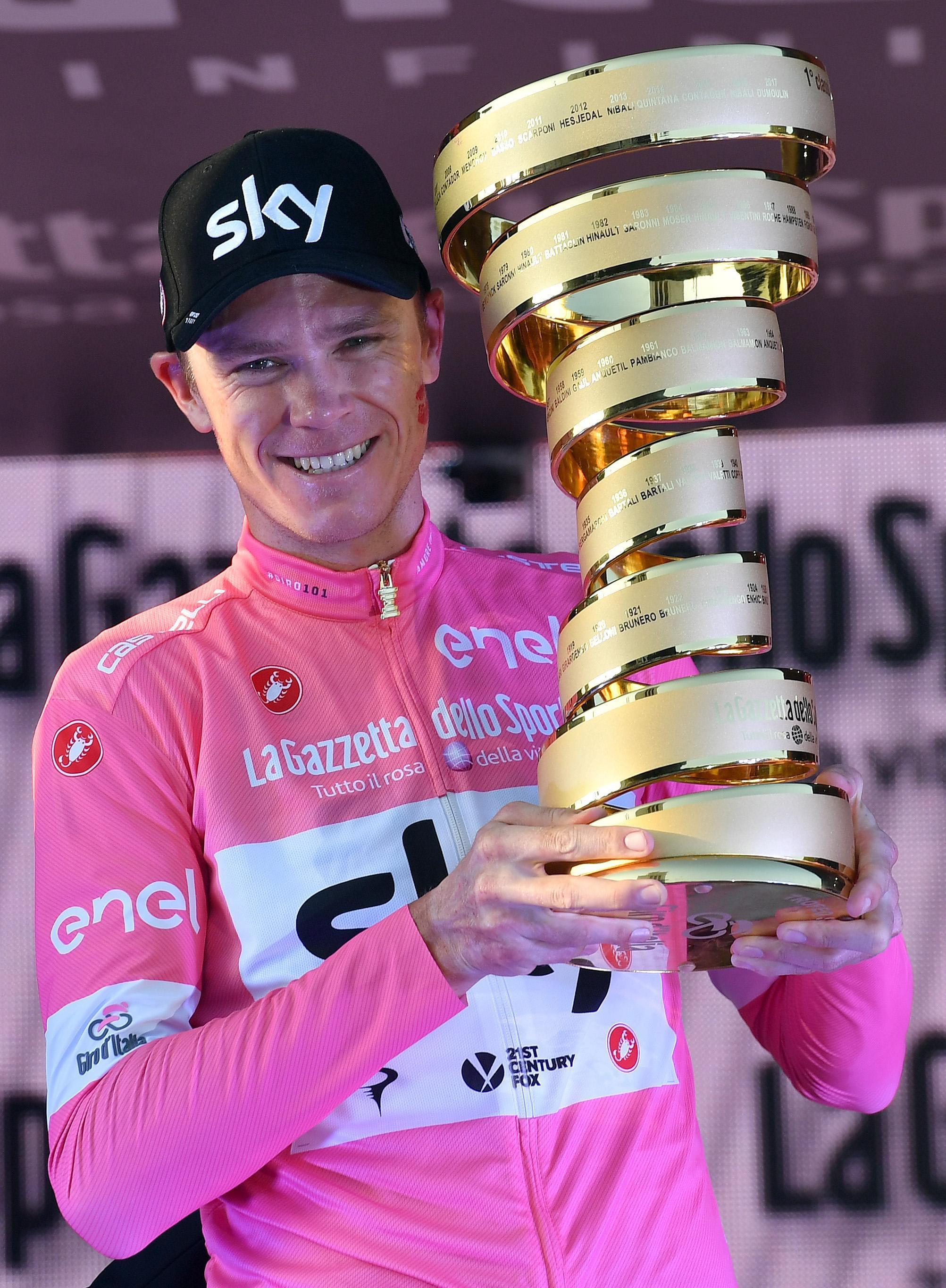 Chris Froome clinched Giro d'Italia victory in May
