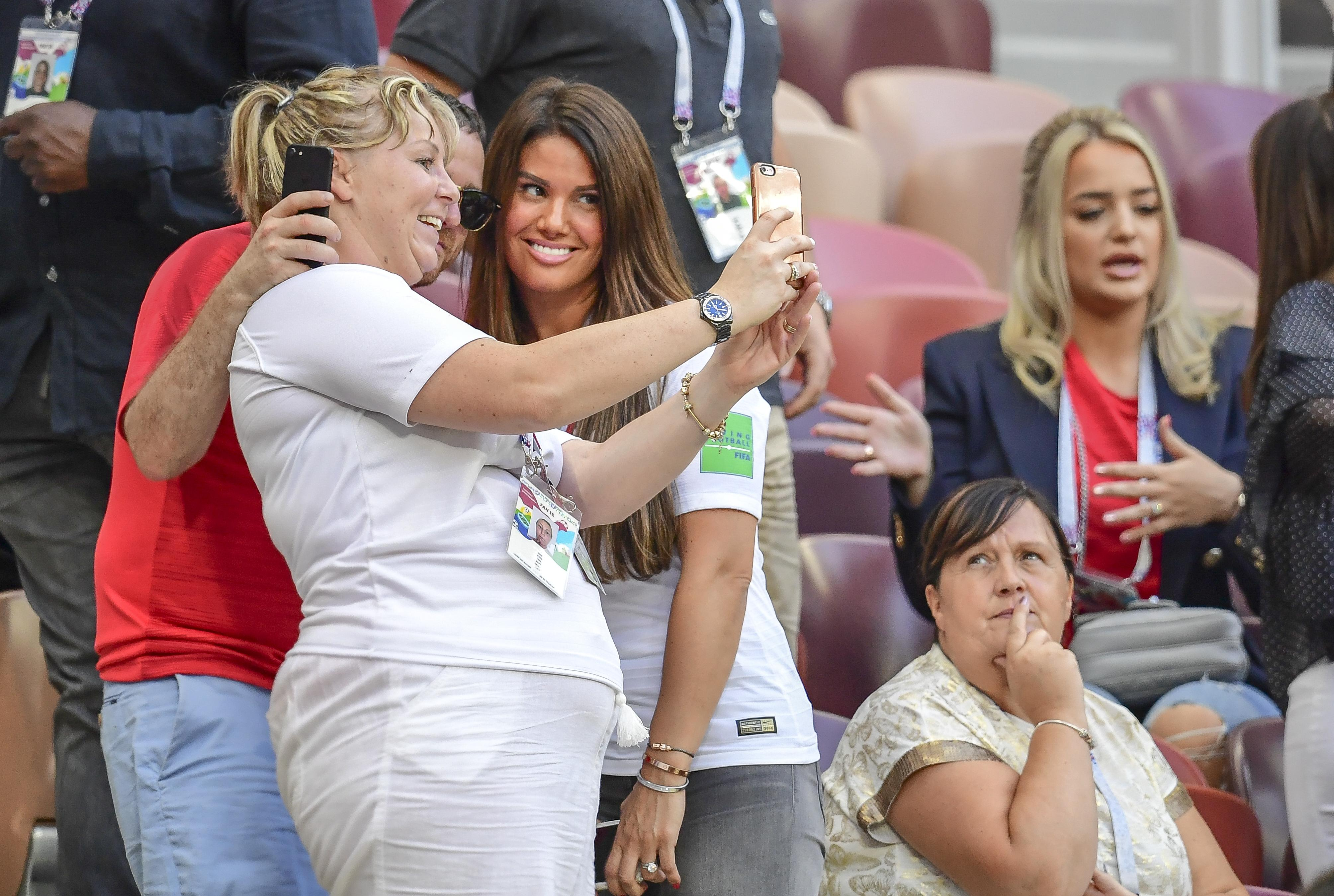 England's footballers enjoyed time with their partners during the 2018 World Cup in Russia - like Jamie Vardy with wife Rebekah (pictured)