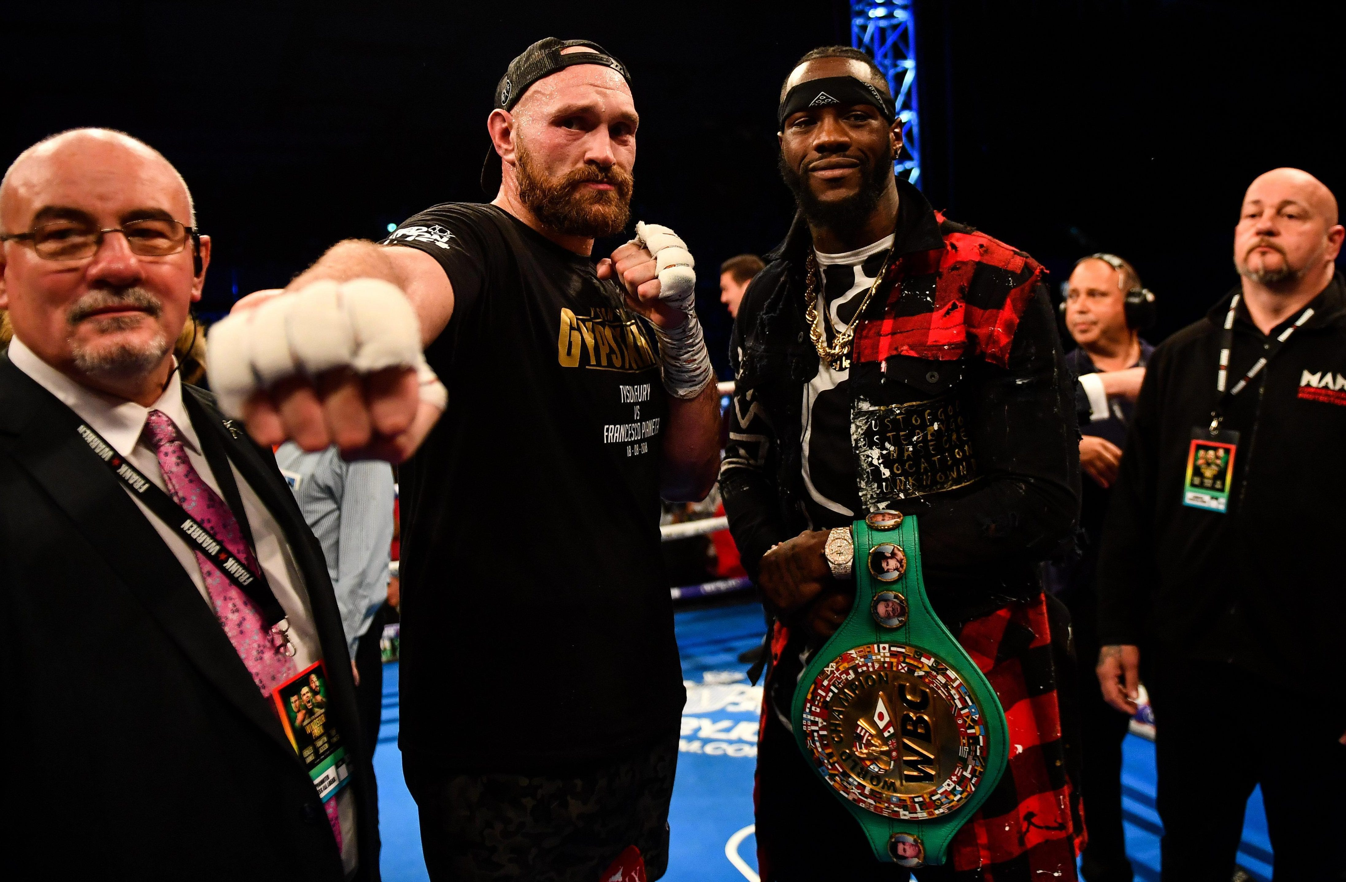 Tyson Fury is expected to fight WBC king Deontay Wilder before the year is out