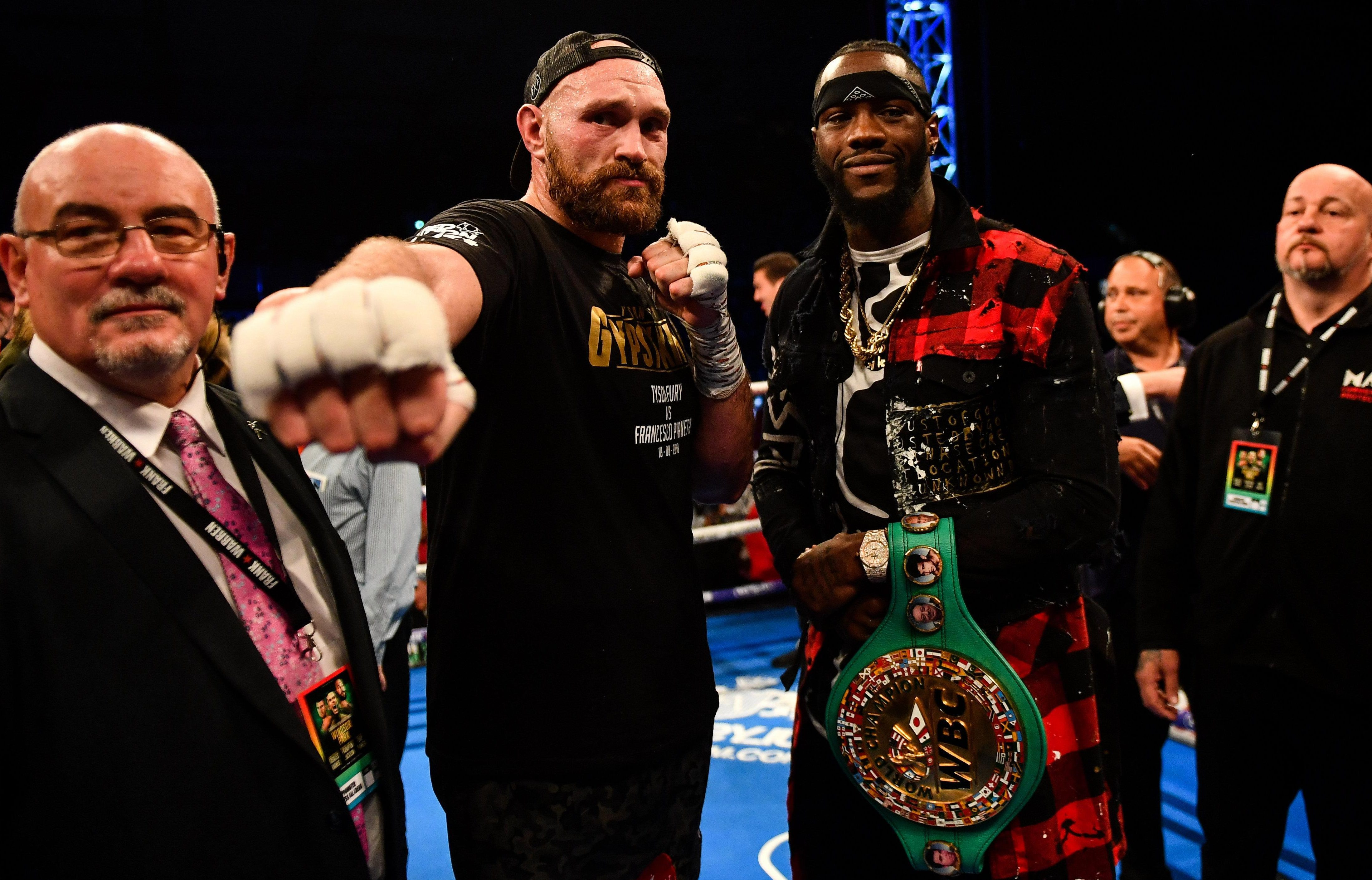 Tyson Fury and Deontay Wilder will face each other inside the ring on December 1