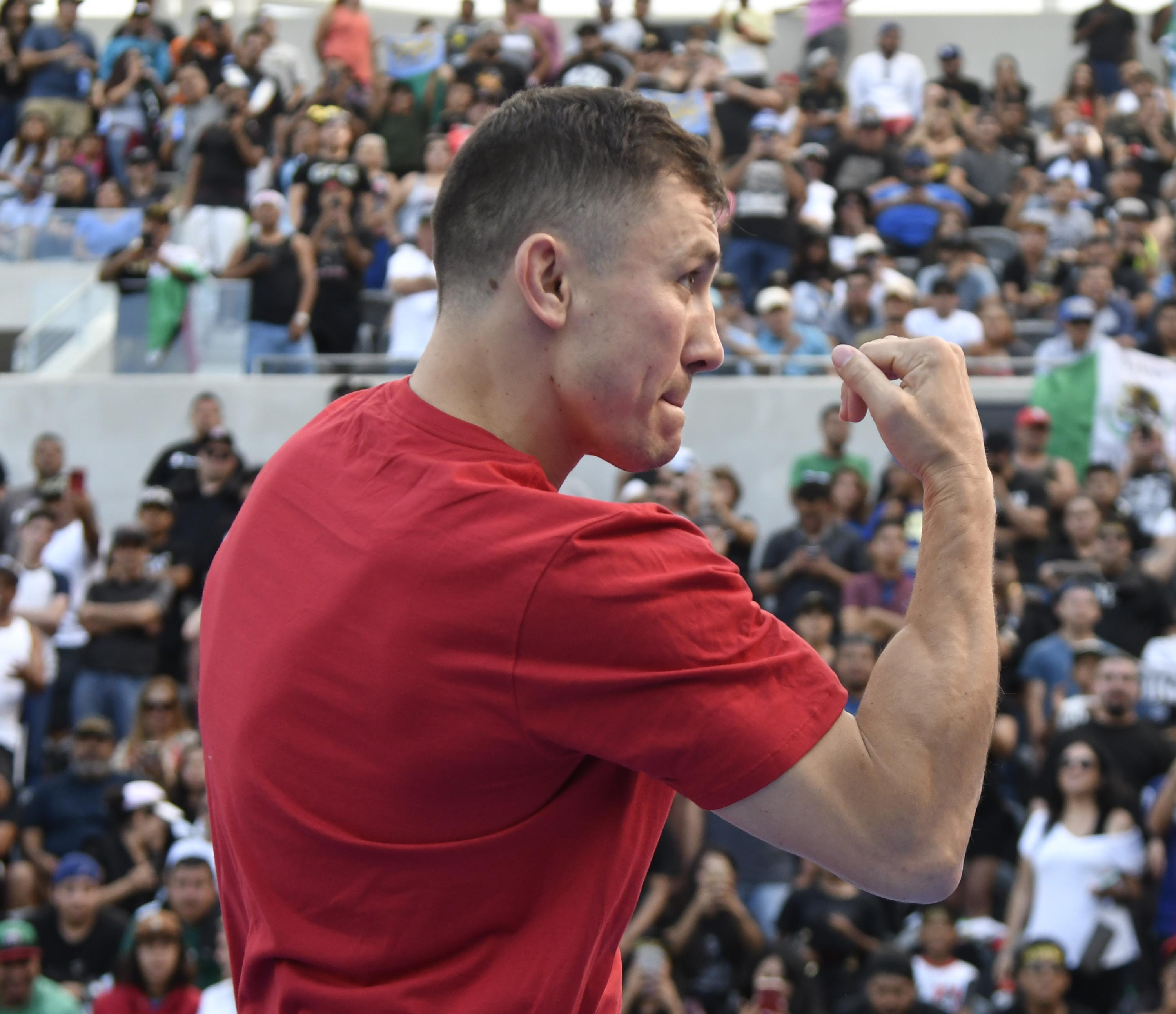 Gennady Golovkin has been showing supreme power in training