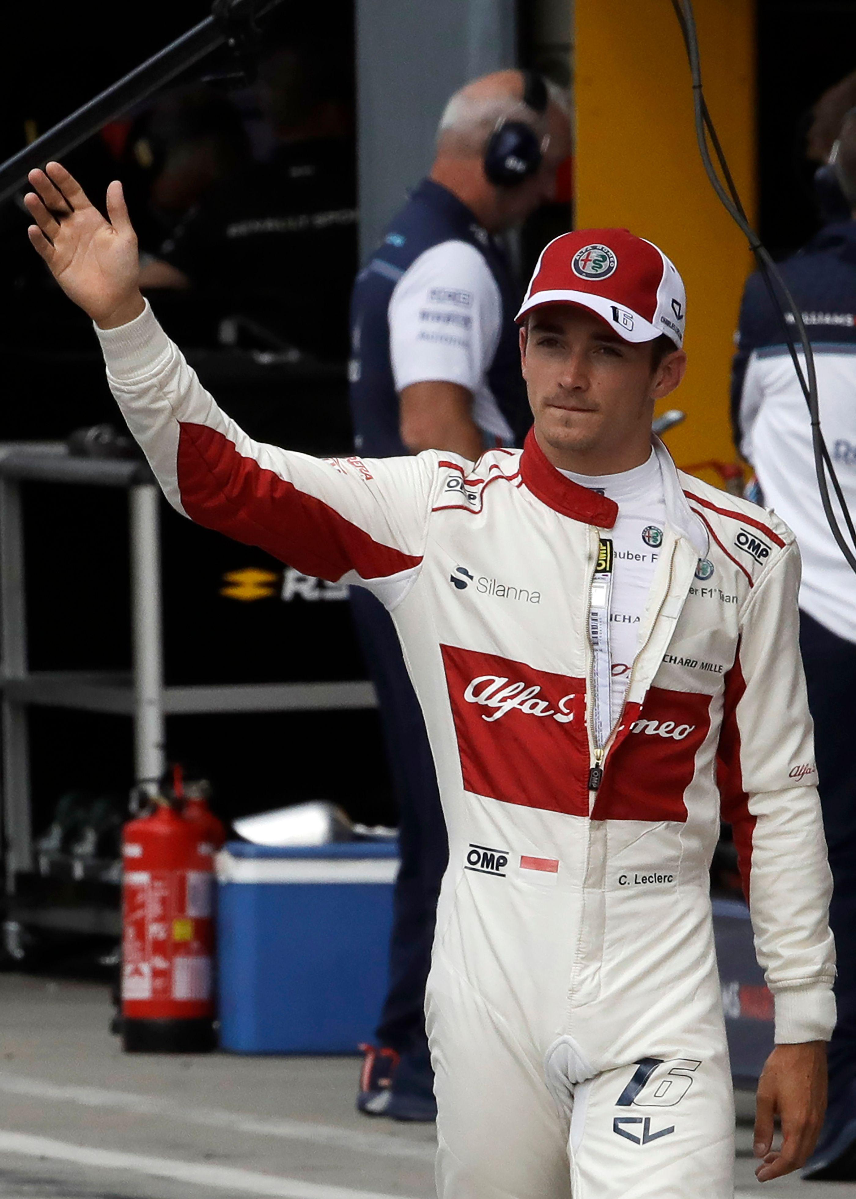 Sauber driver Charles Leclerc is in line to get the number two seat at Ferrari next season