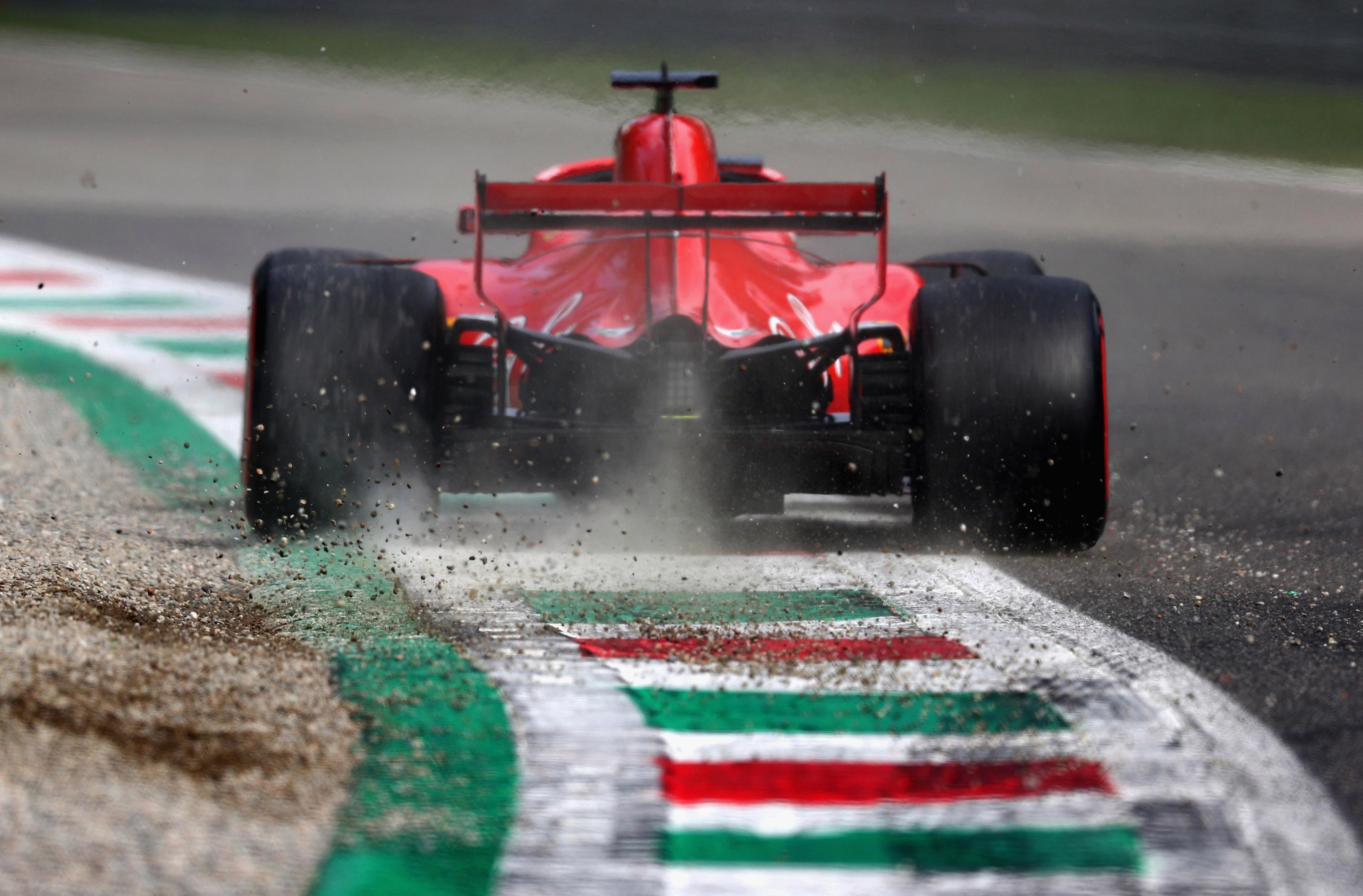 Kimi Raikkonen flew around the Monza circuit to claim pole