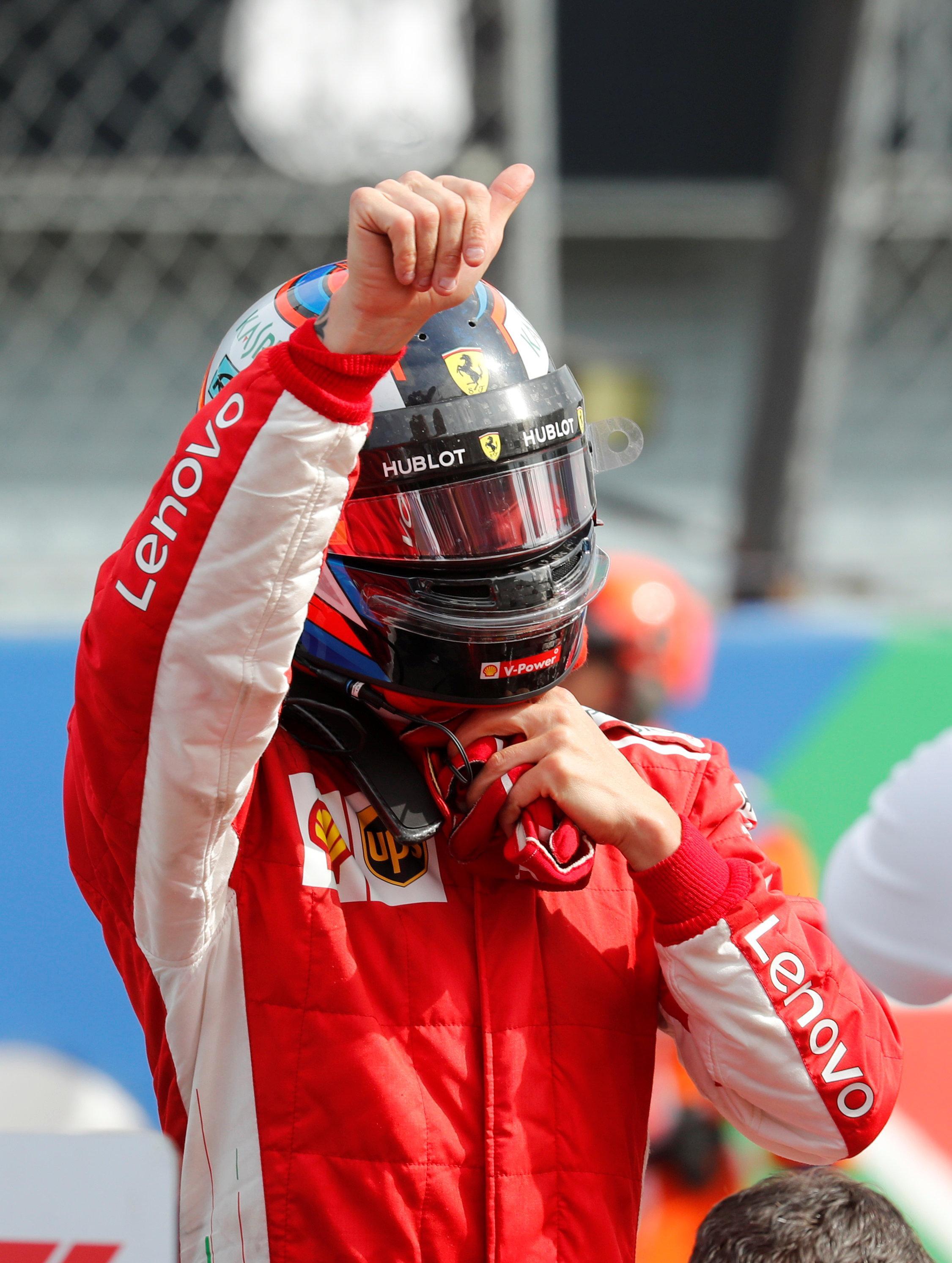 Kimi Raikkonen will sit on pole for tomorrow's Italian Grand Prix