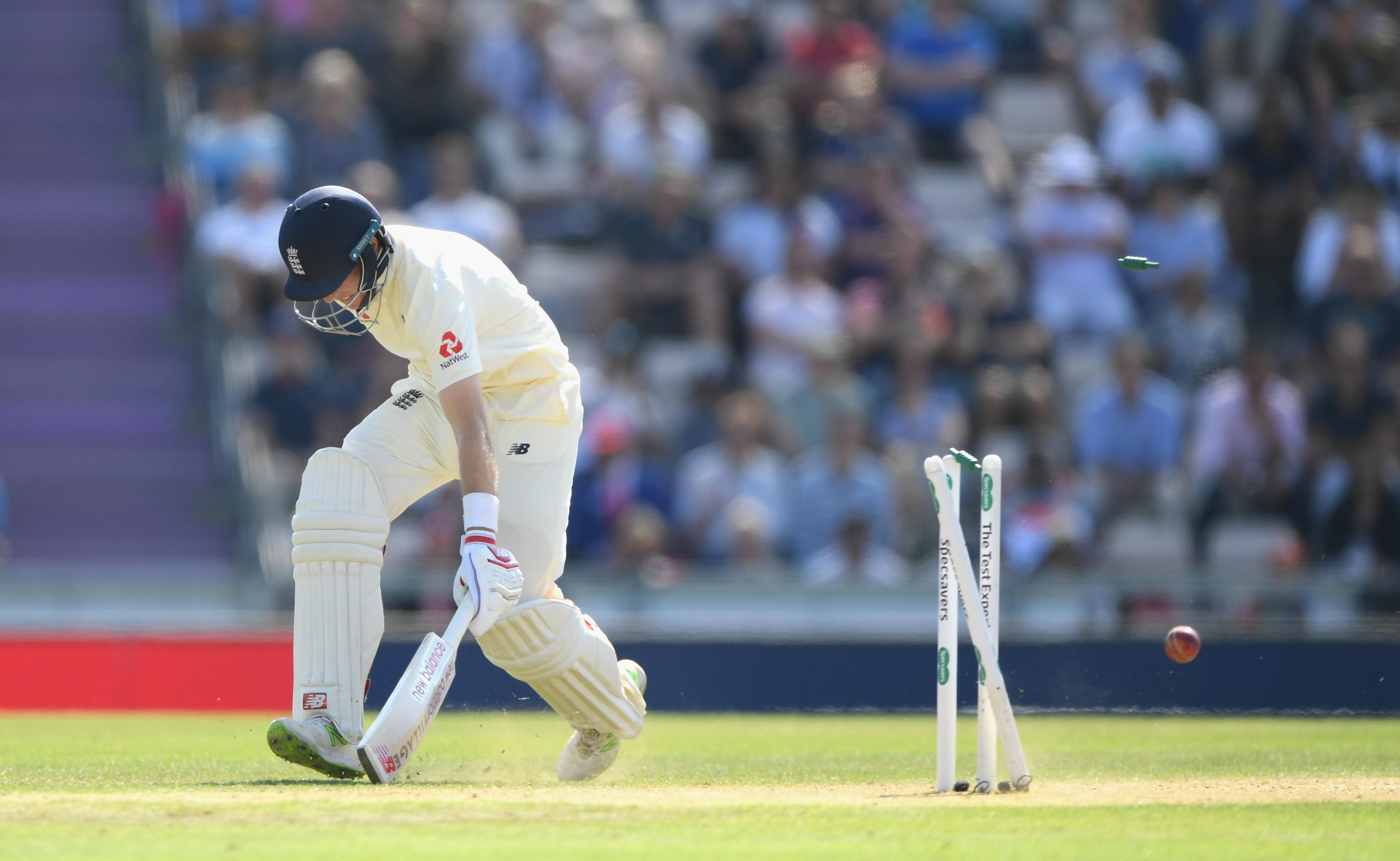 Joe Root was run-out two short of his 50 in the second innings