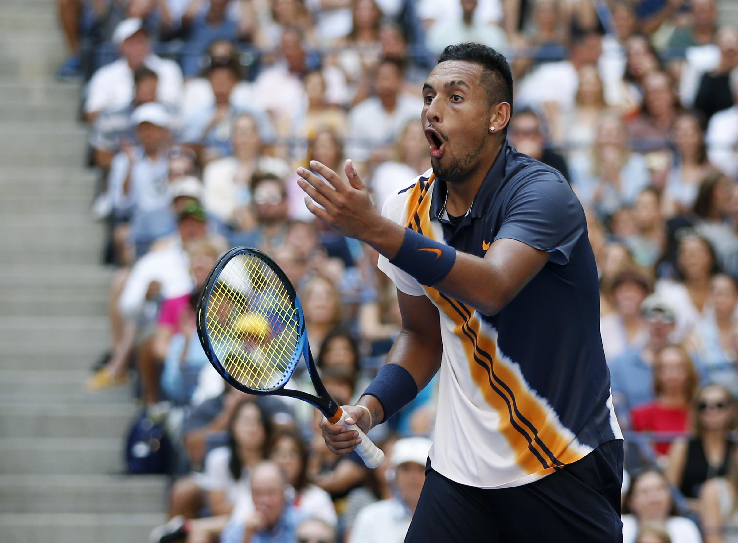 Kyrgios could scarcely believe the shot, one that the Australian himself would have been proud of