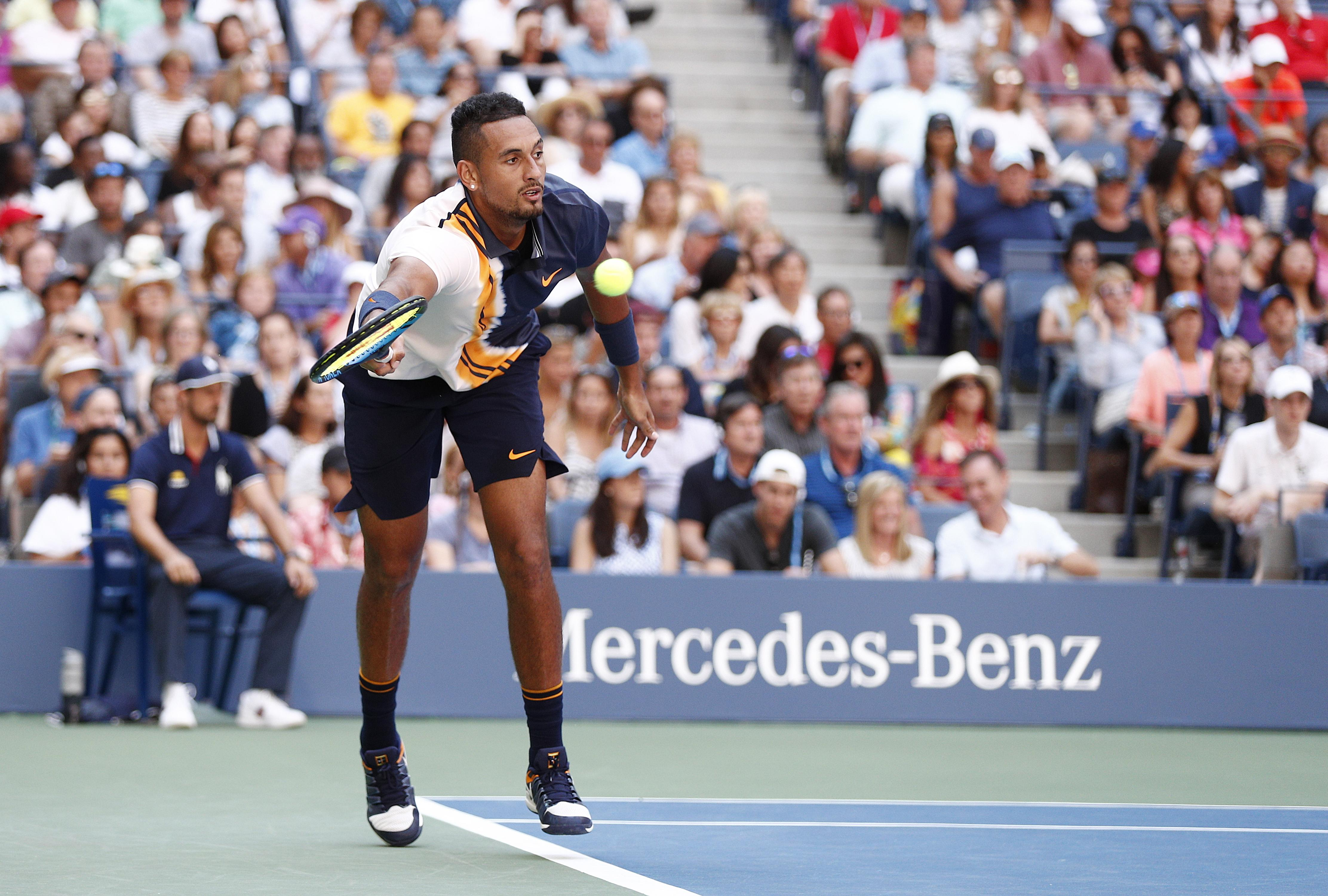 The 23-year-old started well and looked to put the world No2 under pressure early on in the first set