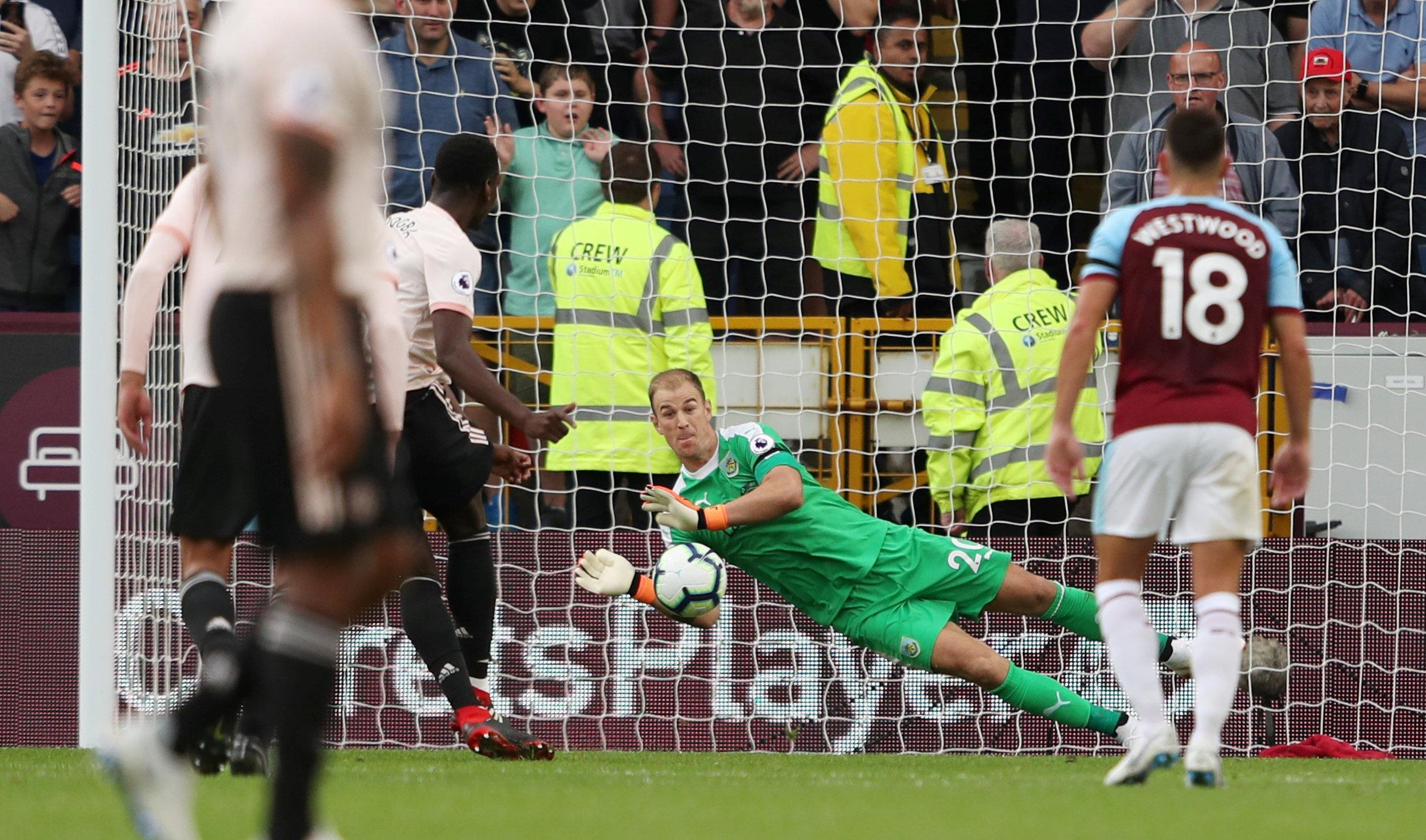 Joe Hart saved a second half penalty from Paul Pogba