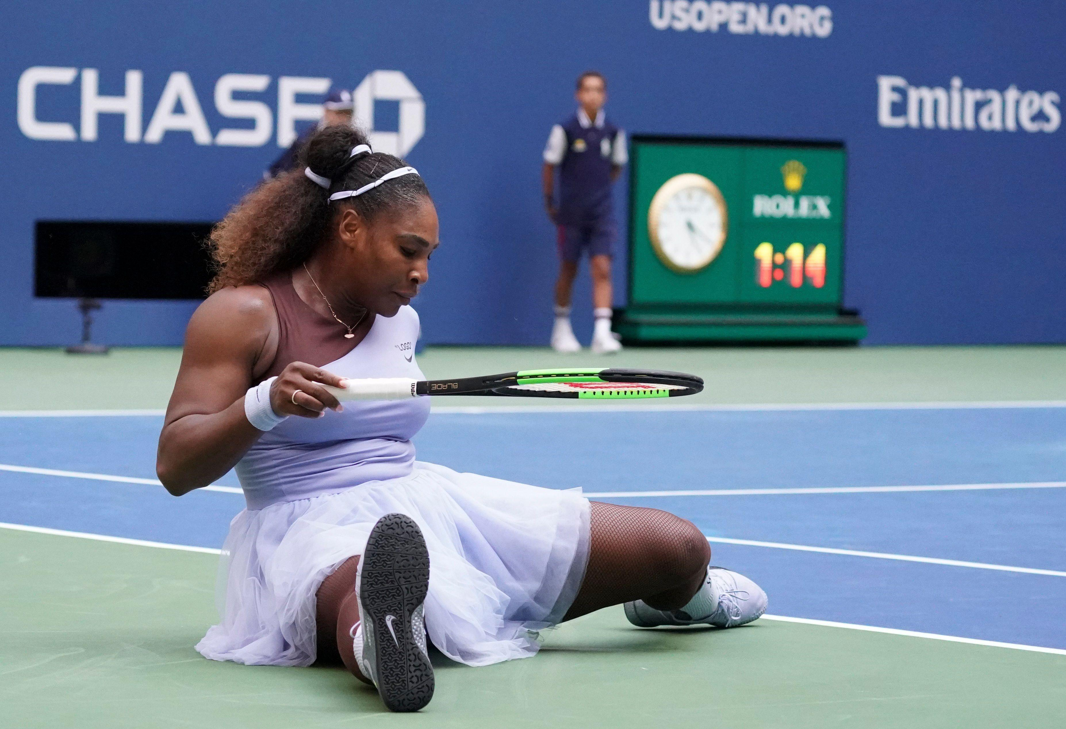 Serena did not have it all her own way and Kanepi fought back to take the second set