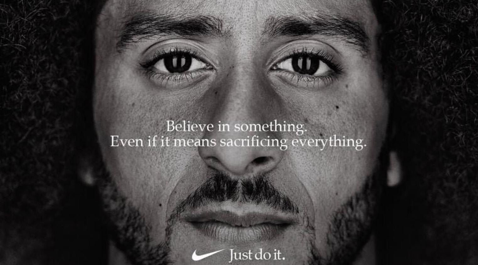 "Colin Kaepernick has been chosen as the face of Nike's 30-year anniversary ""Just Do It"" campaign"
