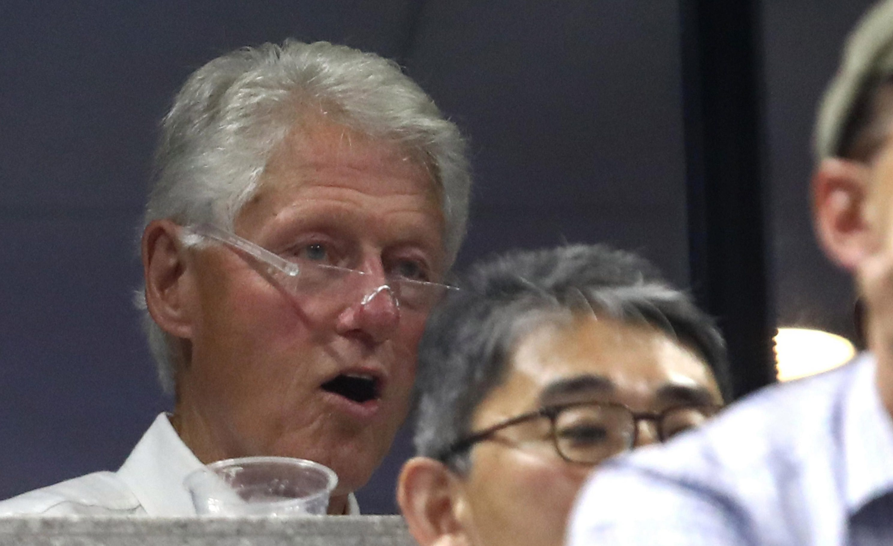 Former US president Bill Clinton was courtside for the action