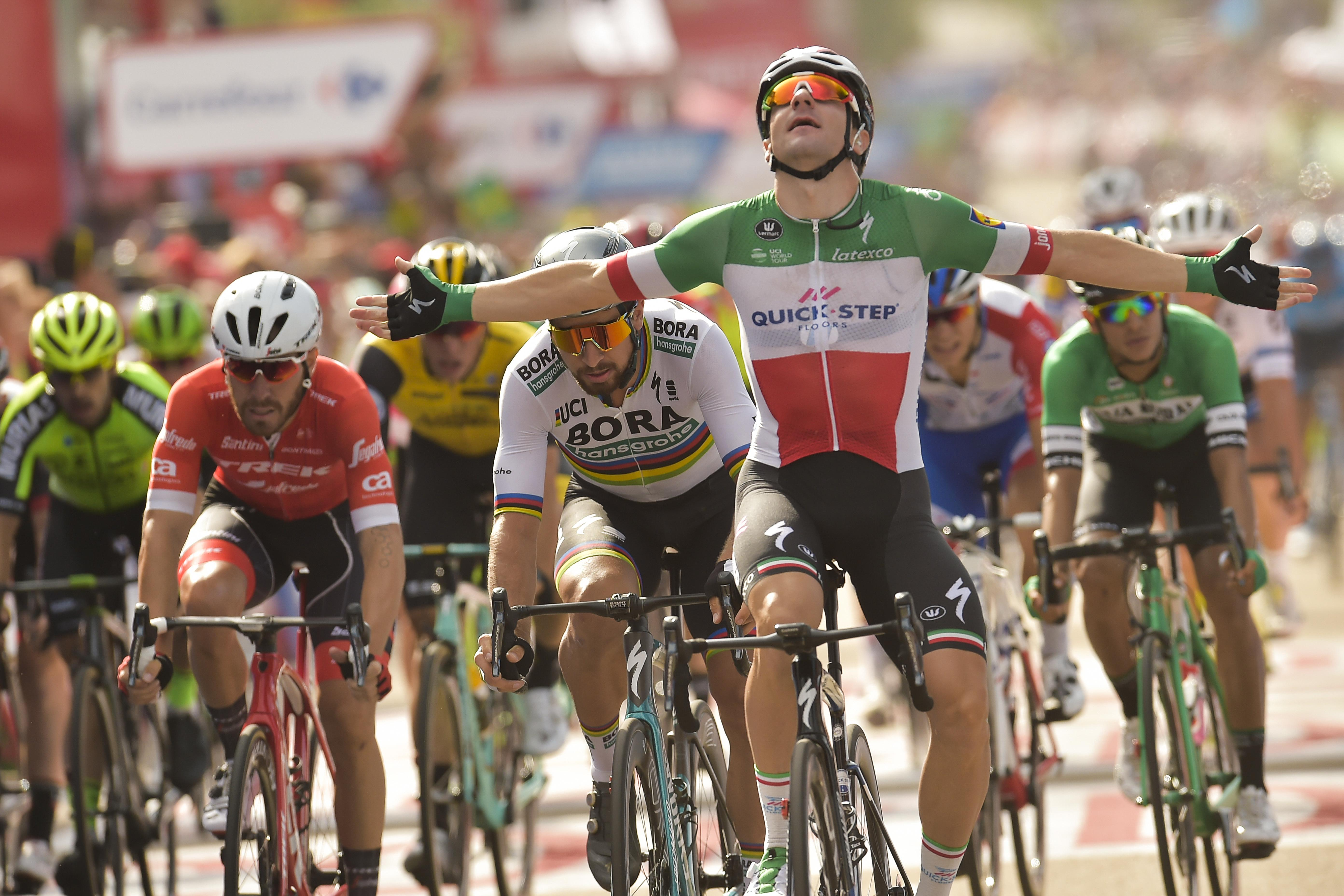 Italian sprint ace Elia Viviani won stage 10 in a quick finish