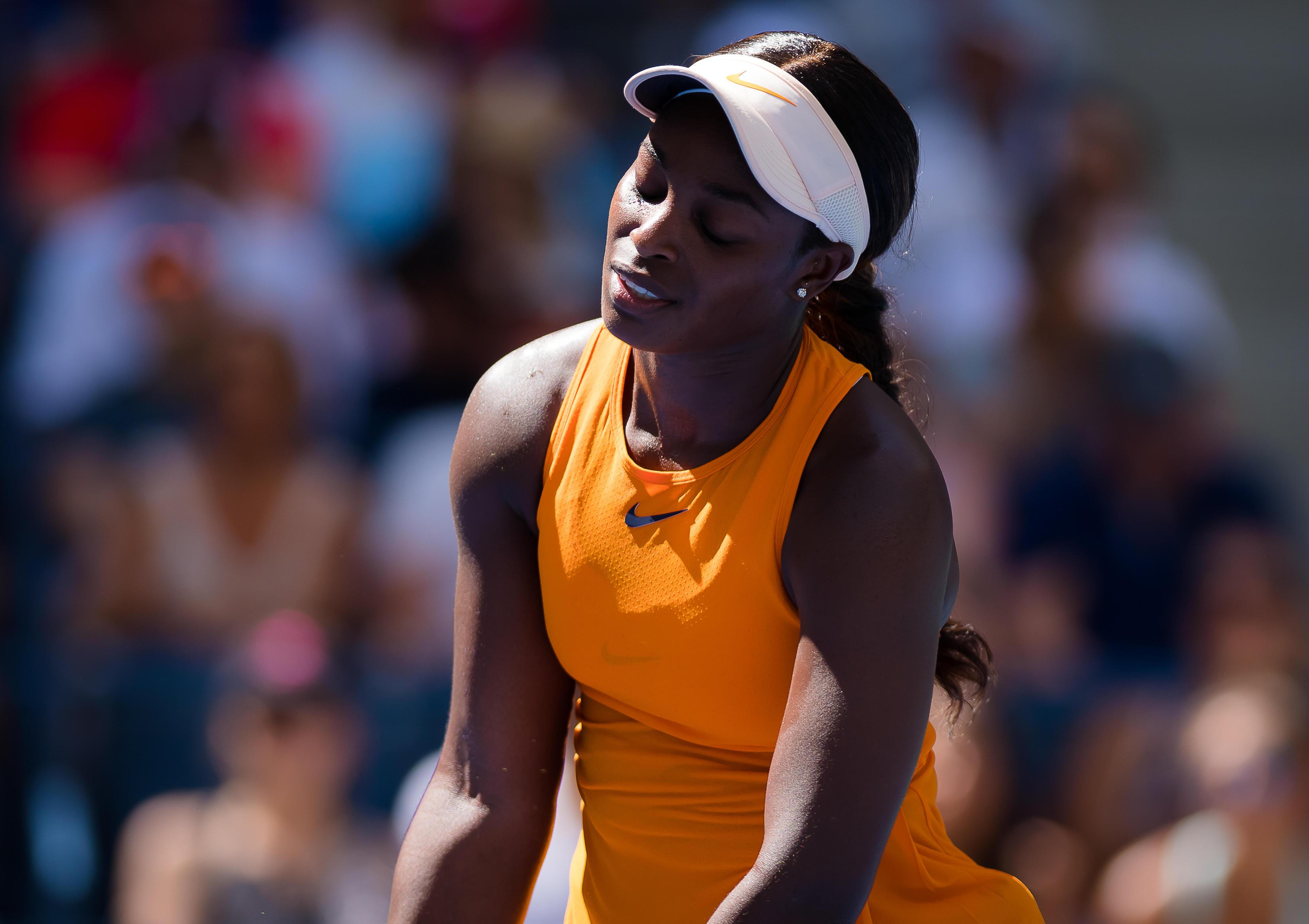 Sloane Stephens failed to cling on to her title after a disappointing defeat