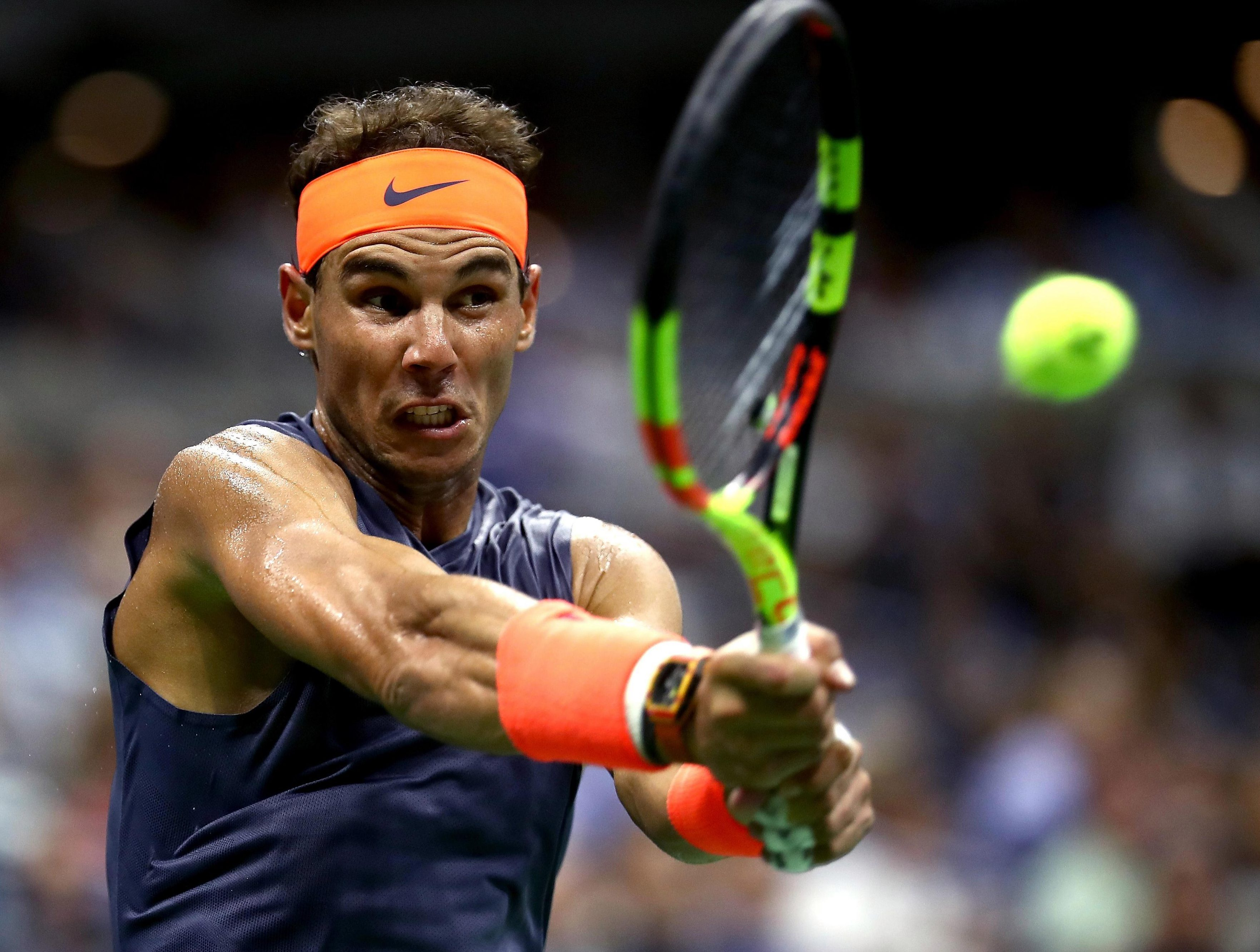 Rafa Nadal is only two games from winning back-to-back US Open titles