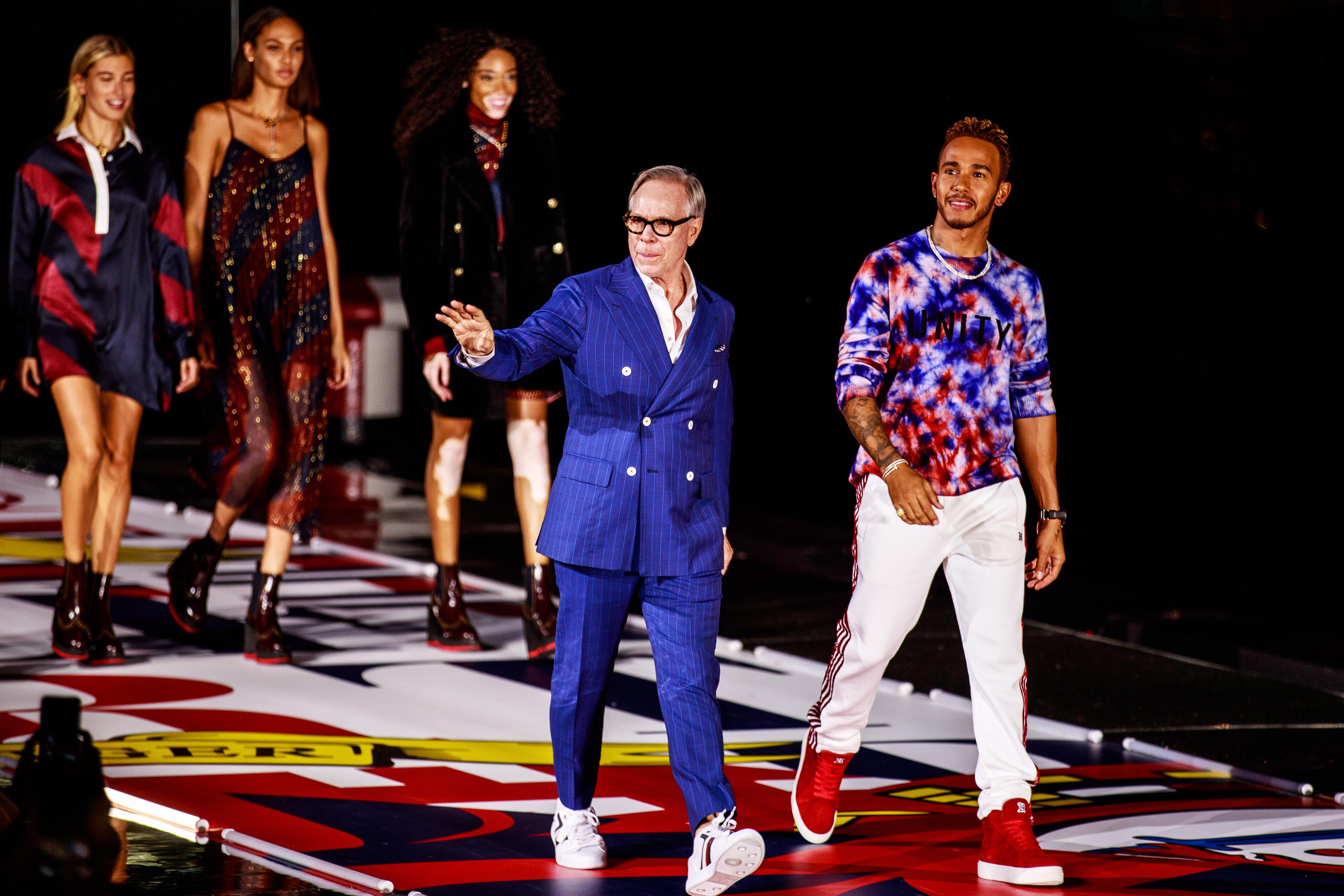 Lewis Hamilton hit the catwalk in Shanghai with Tommy Hilfiger last week