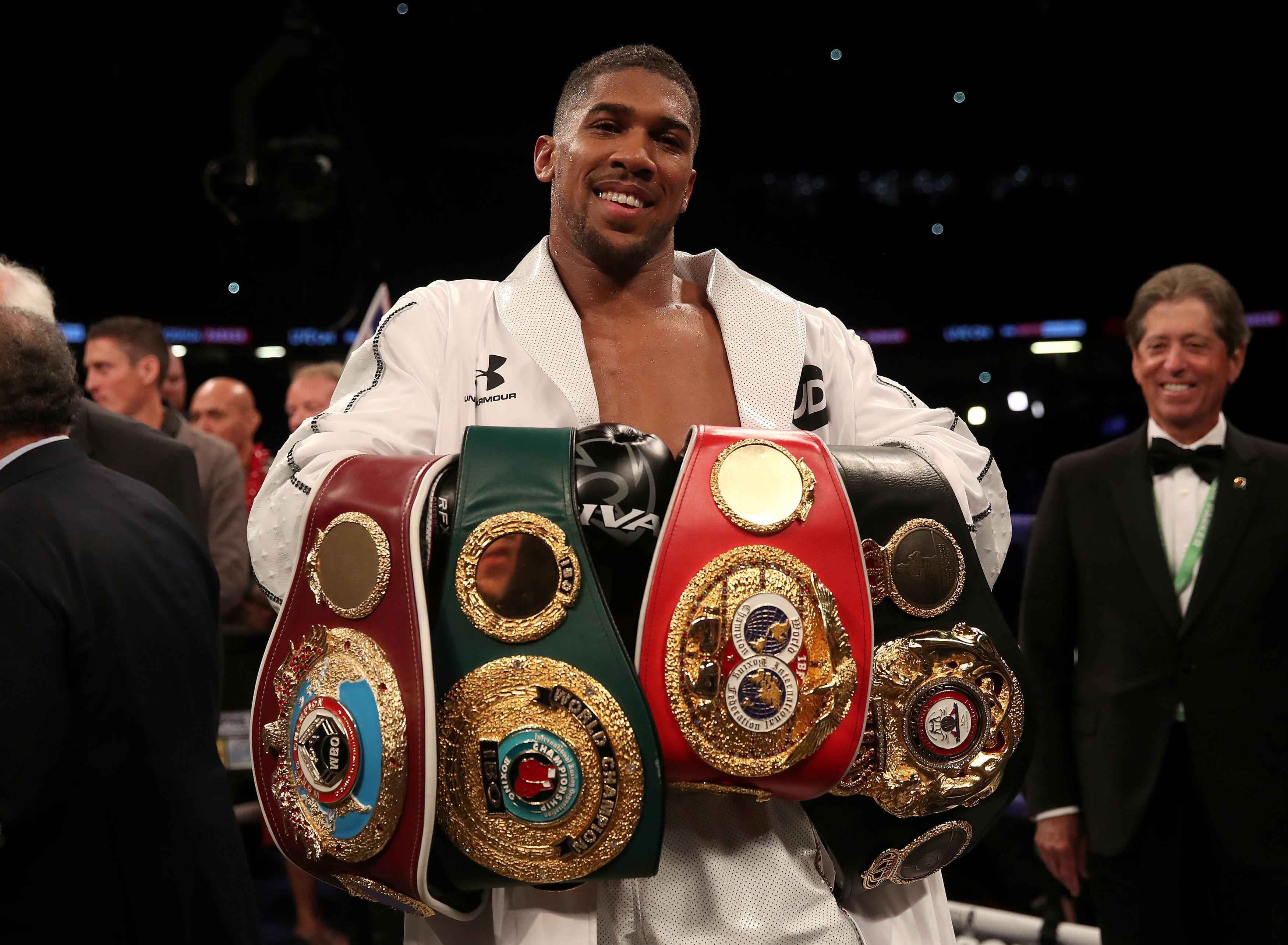 Anthony Joshua will defend his titles against Alexander Povetkin on September 22