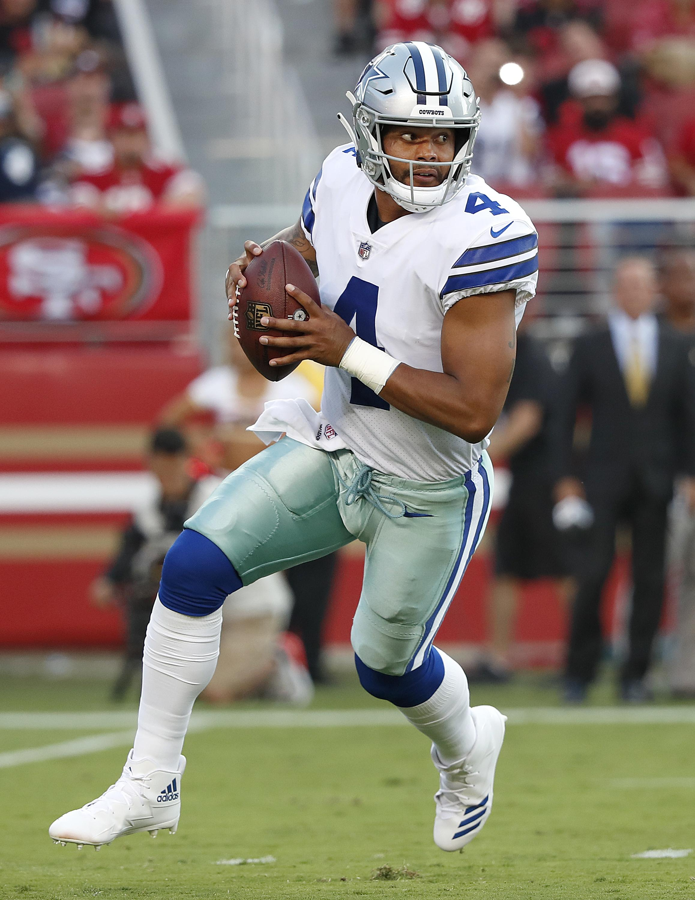 Prescott was Rookie of the Year in 2016